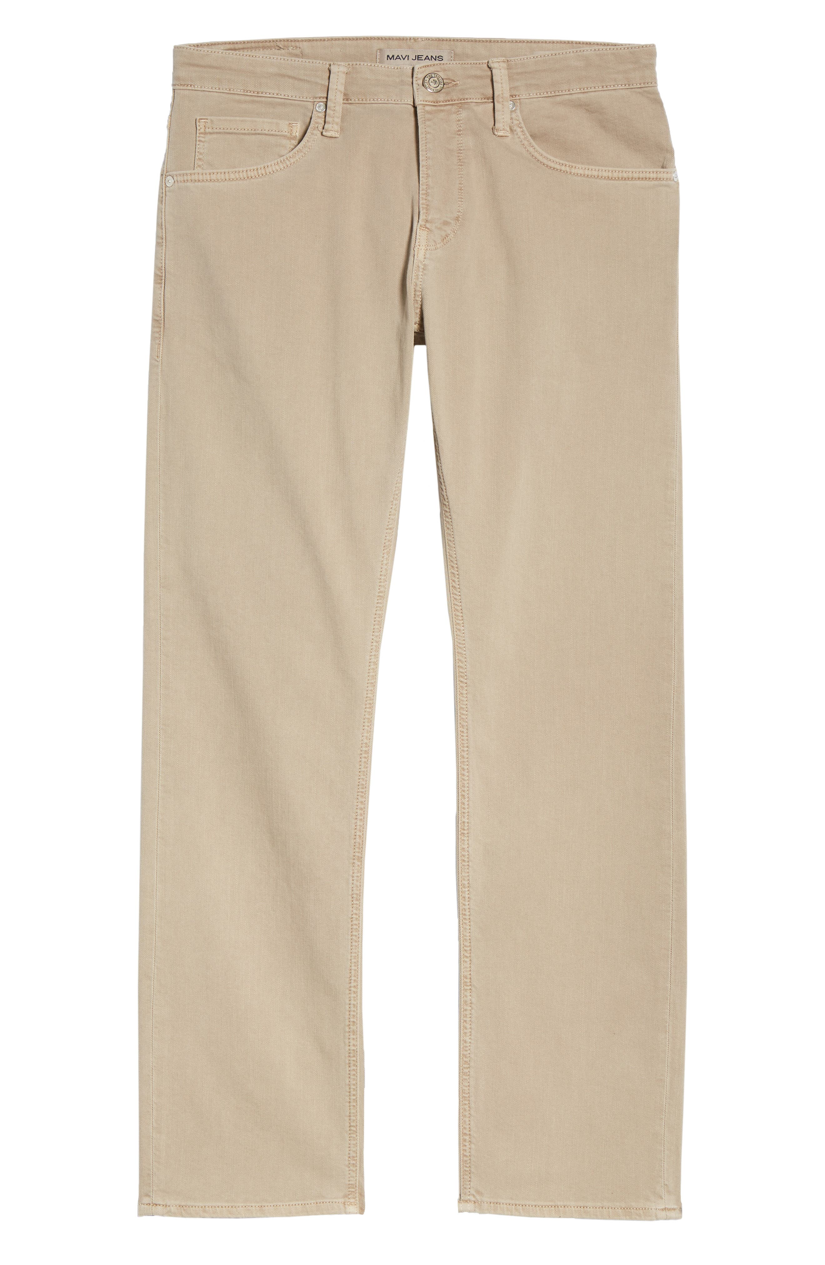 Zach Straight Leg Twill Pants,                             Alternate thumbnail 6, color,                             TAN WASHED