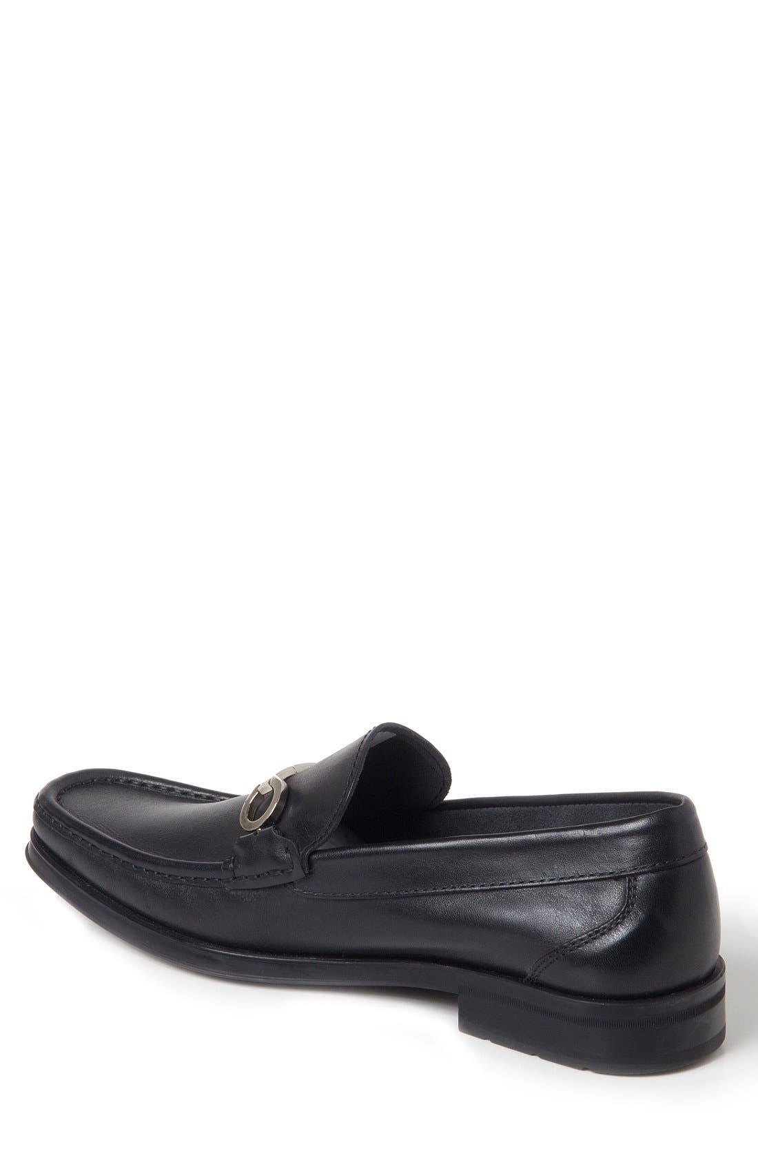 Genoa Bit Loafer,                             Alternate thumbnail 2, color,                             BLACK LEATHER