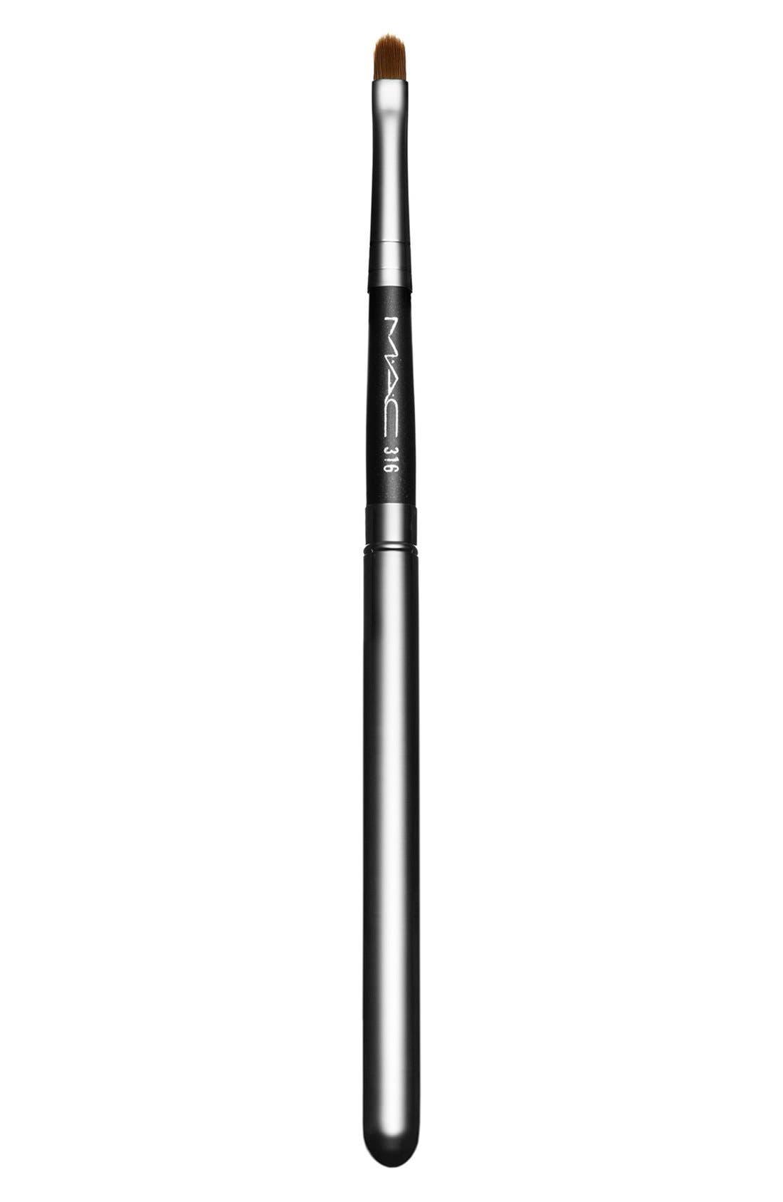 MAC 316 Lip Brush,                             Main thumbnail 1, color,                             000