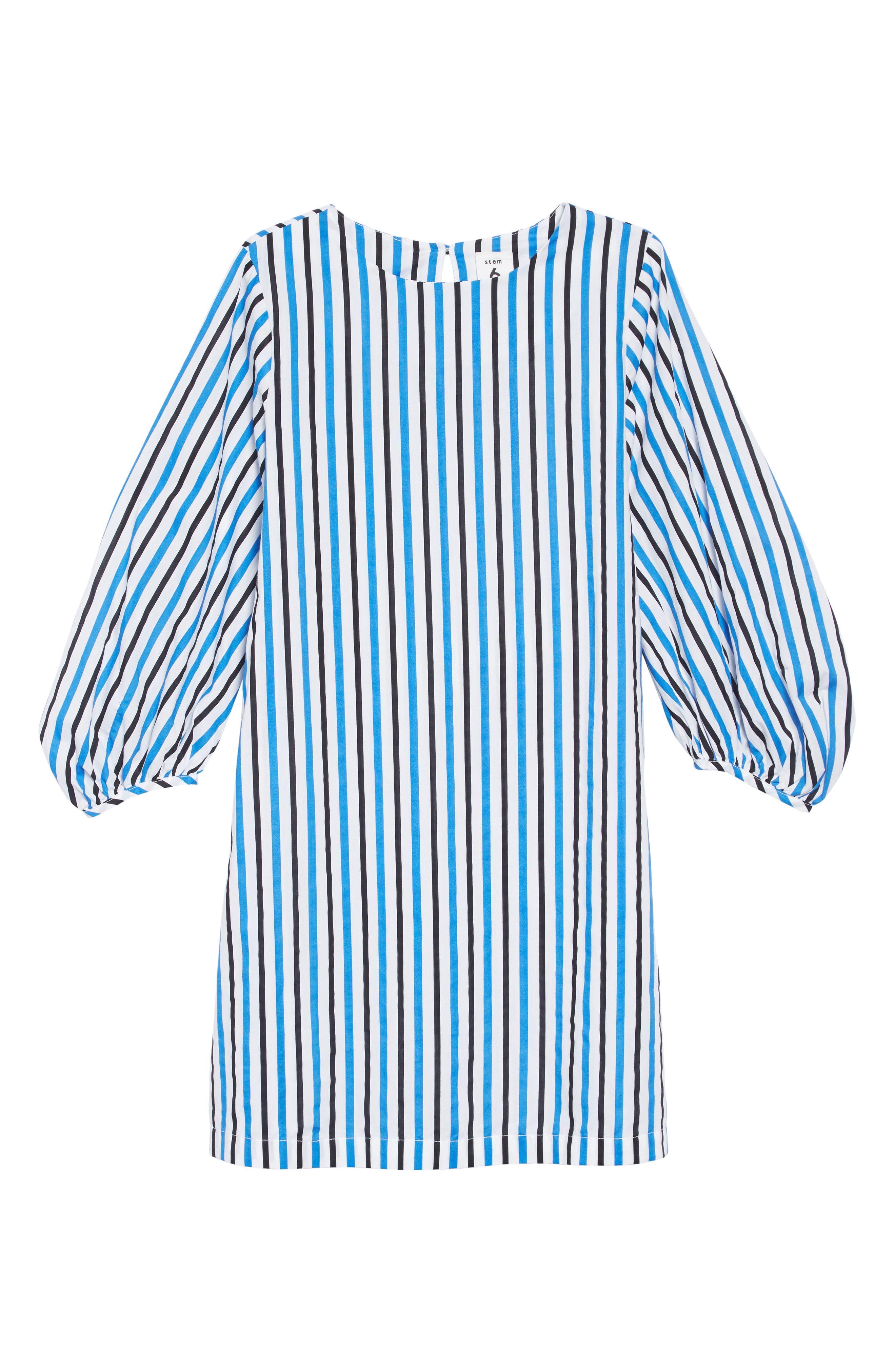 Stripe Tie Dress,                             Main thumbnail 1, color,                             100