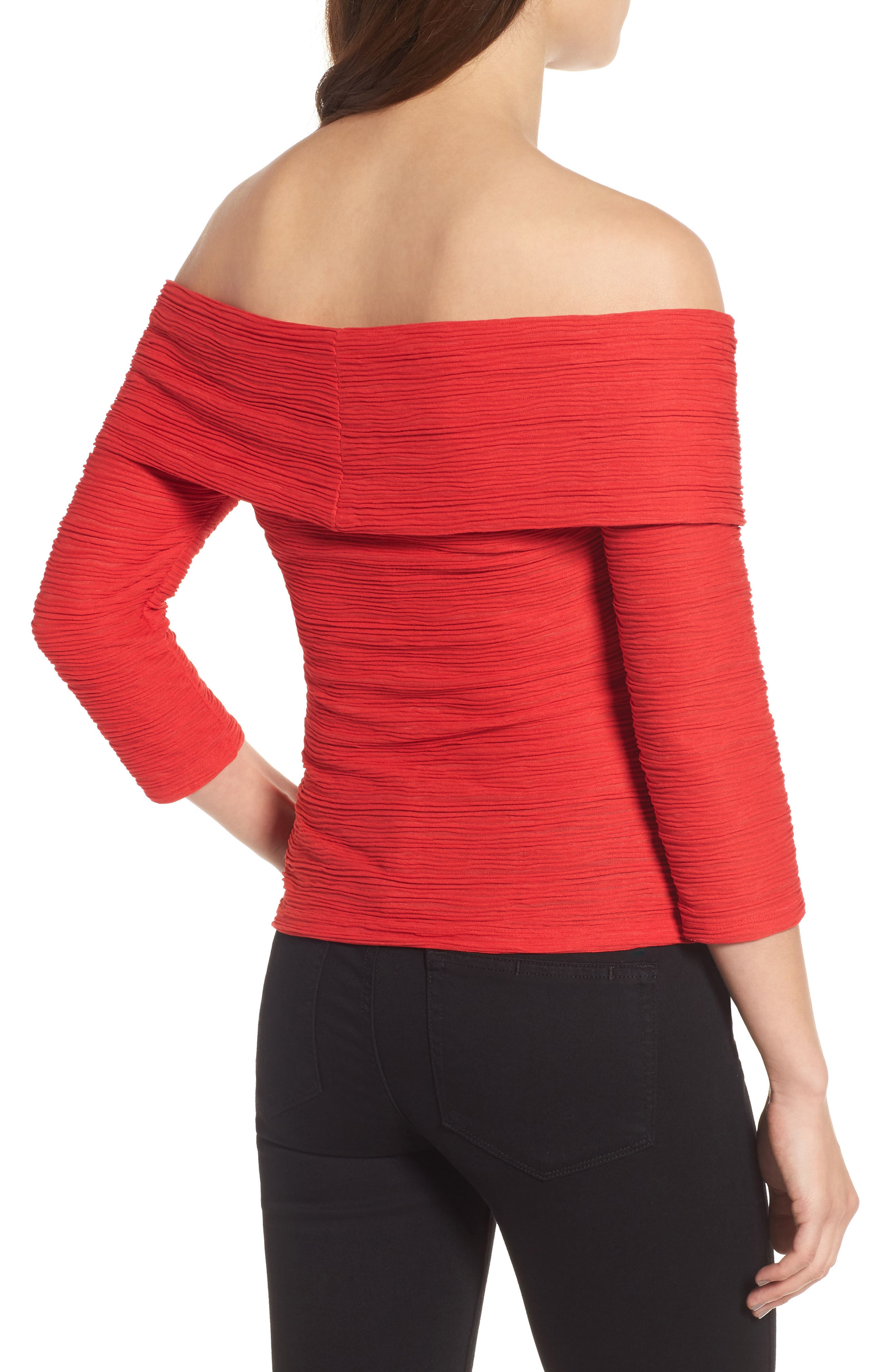 Crossover Stripe Top,                             Alternate thumbnail 2, color,                             610