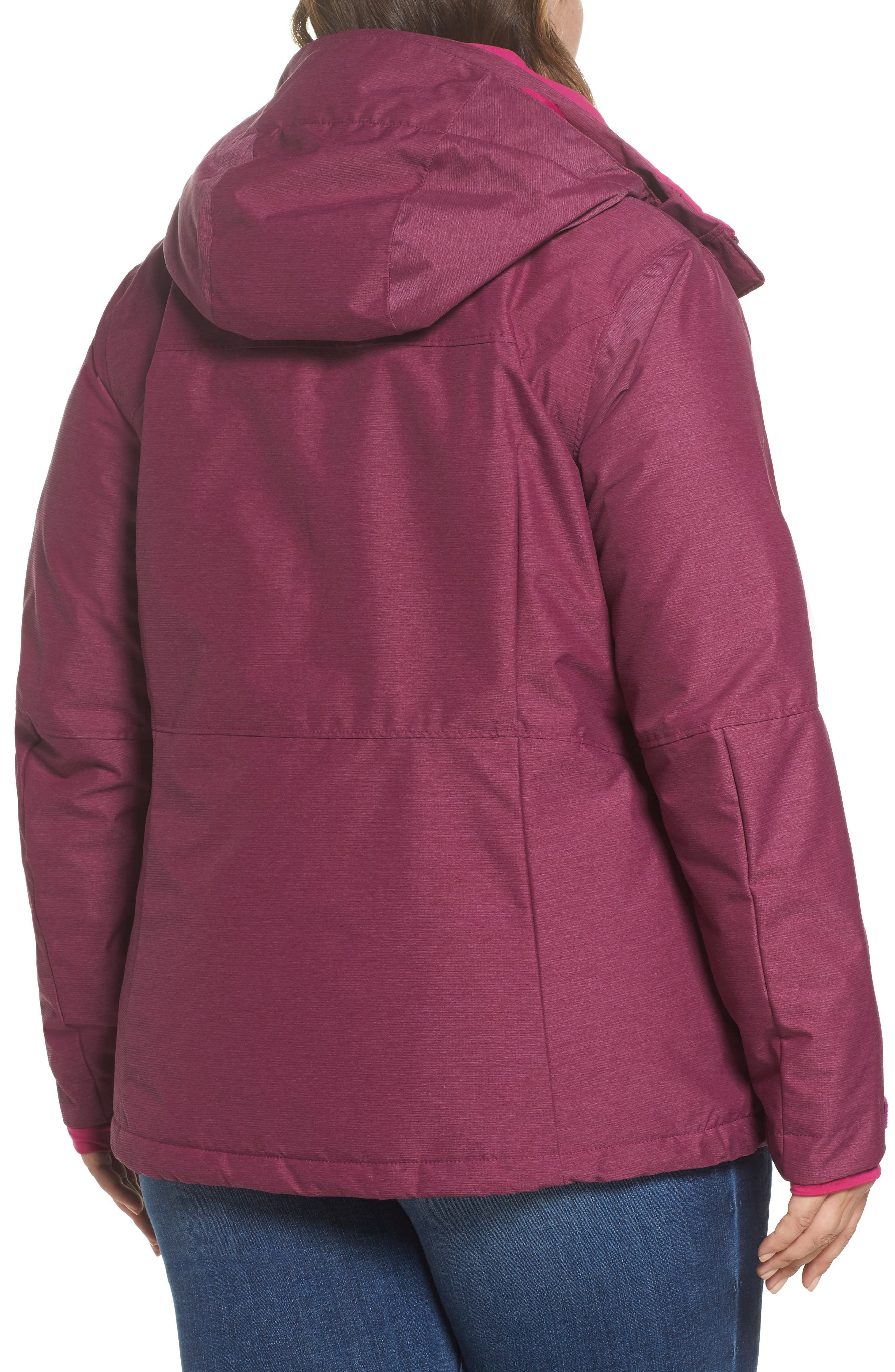 Alpine Action Waterproof Omni-Heat<sup>®</sup> Hooded Jacket,                             Alternate thumbnail 4, color,