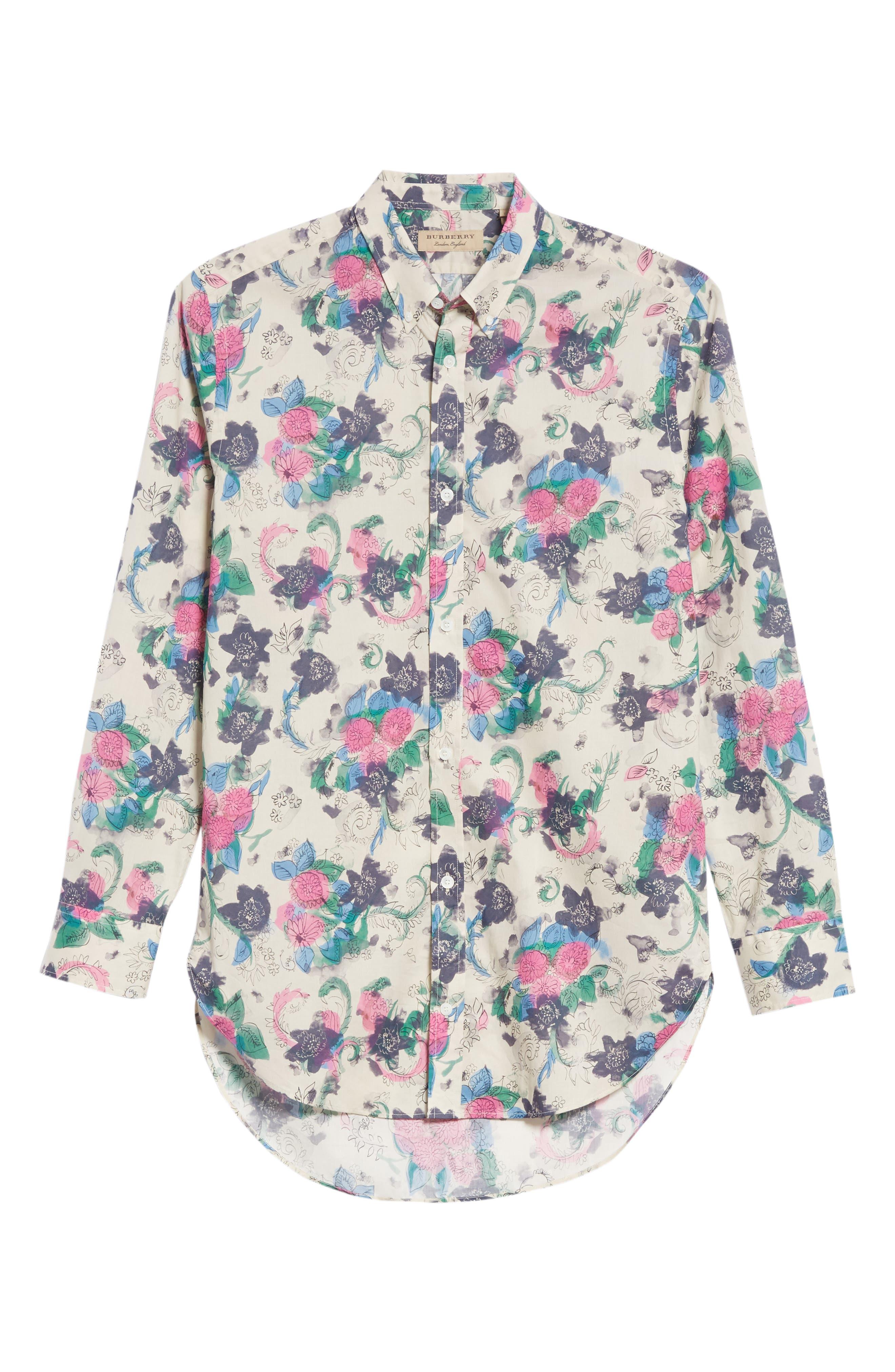 Strenton Floral Print Shirt,                             Alternate thumbnail 6, color,                             250