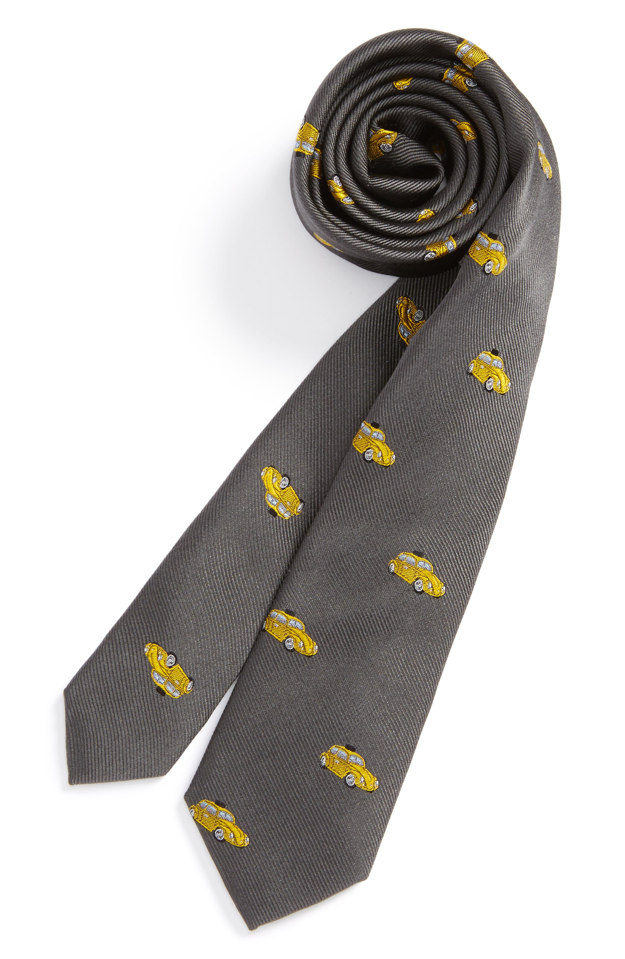 Patterned Silk Tie,                             Main thumbnail 3, color,