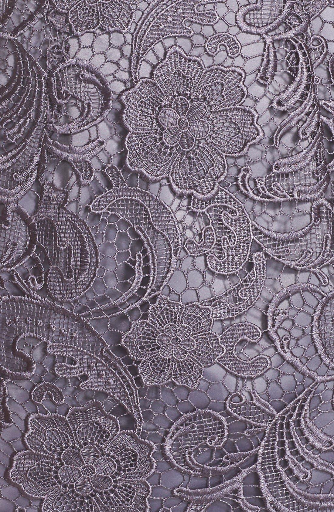 Illusion Bodice Lace Sheath Dress,                             Alternate thumbnail 14, color,