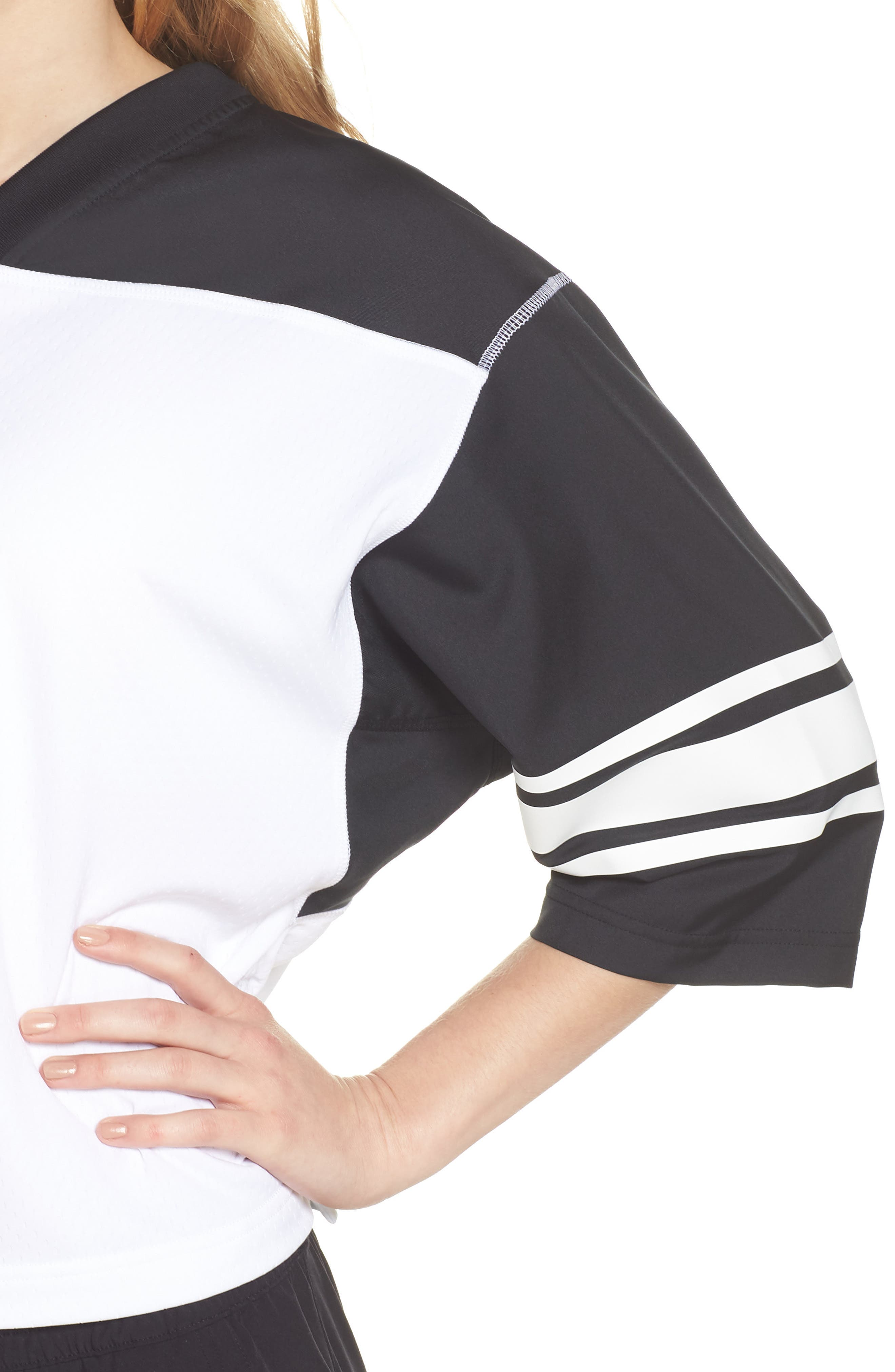 NikeLab Collection Football Top,                             Alternate thumbnail 4, color,                             BLACK/ WHITE/ BLACK