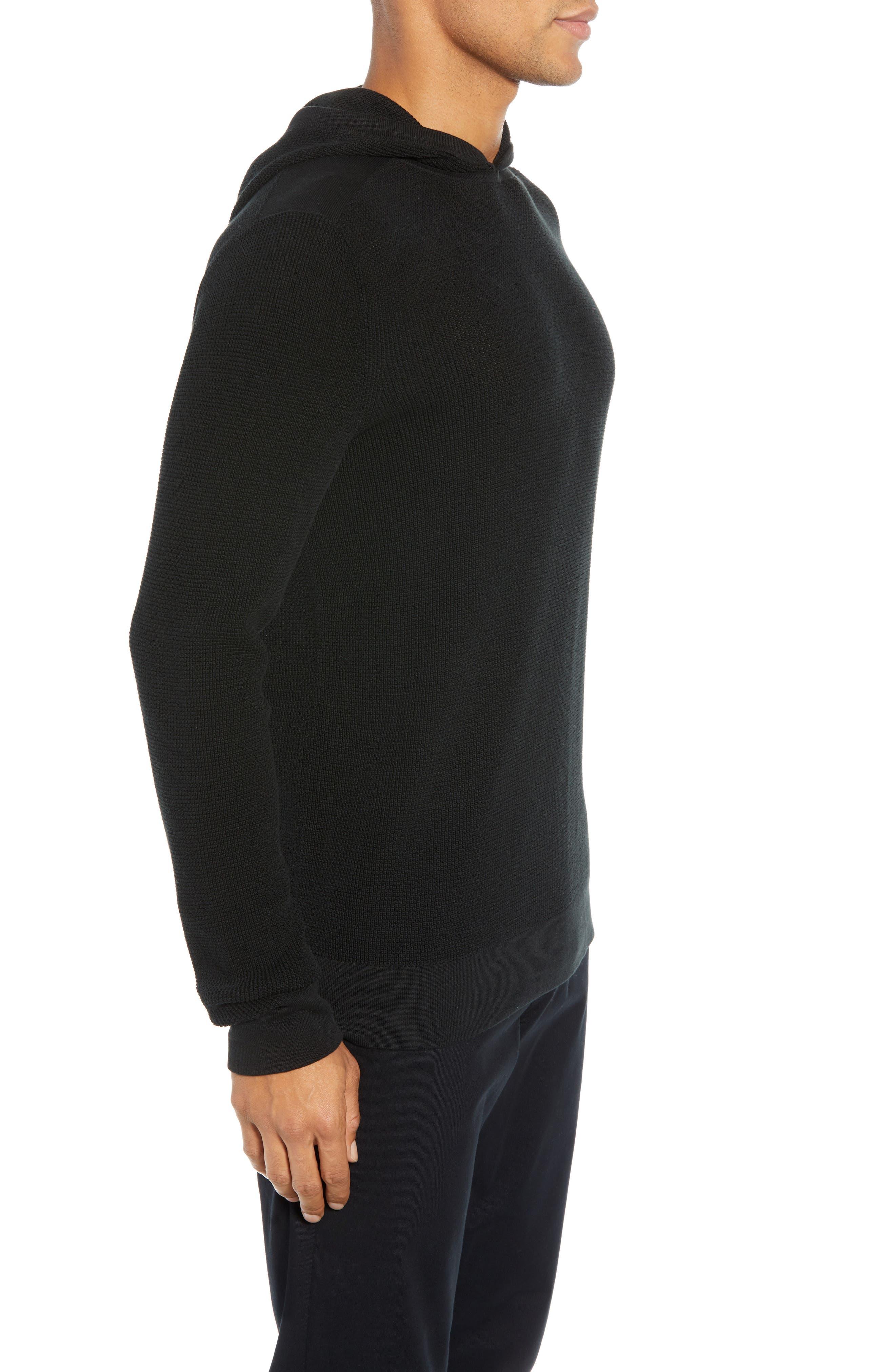 Dami Regular Fit Pullover Hoodie,                             Alternate thumbnail 3, color,                             001