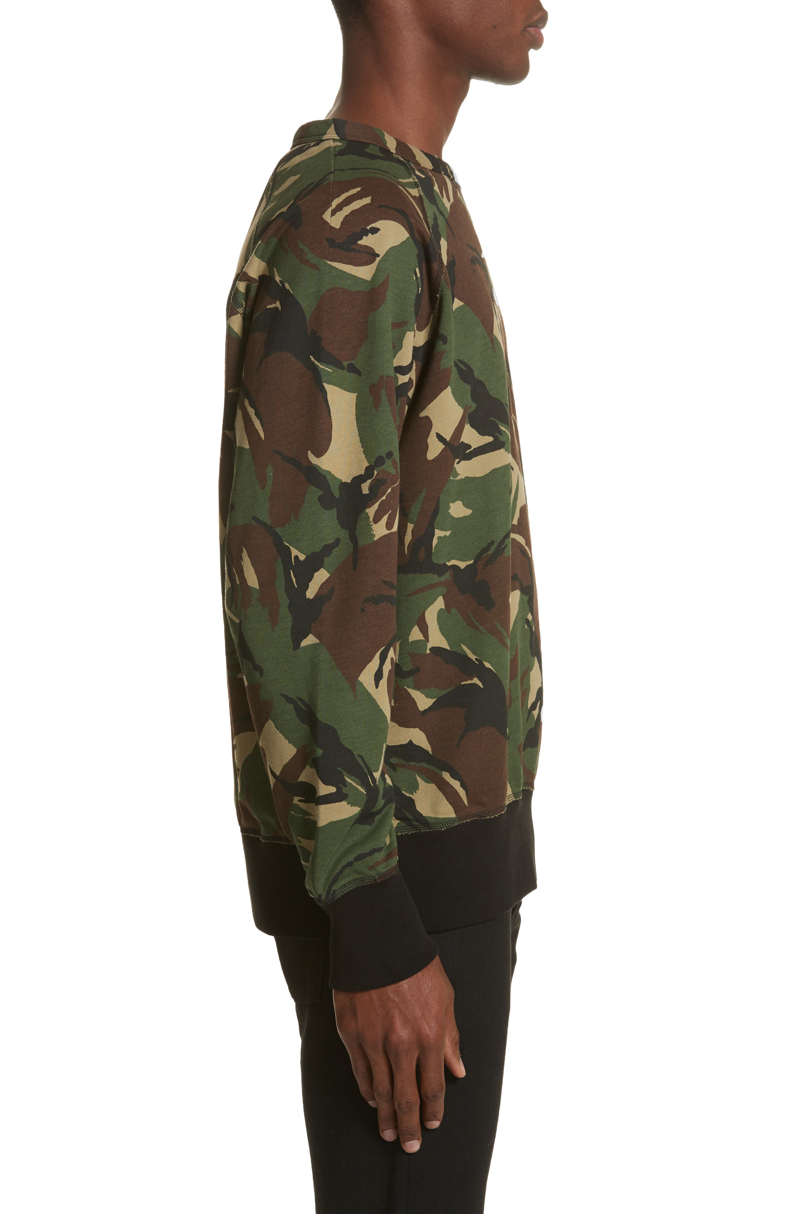 Camo Sweatshirt,                             Alternate thumbnail 3, color,