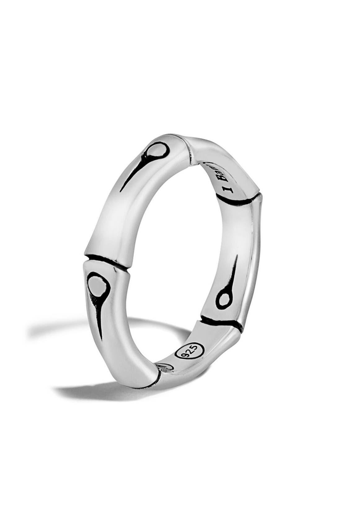 Bamboo Band Ring,                         Main,                         color, SILVER