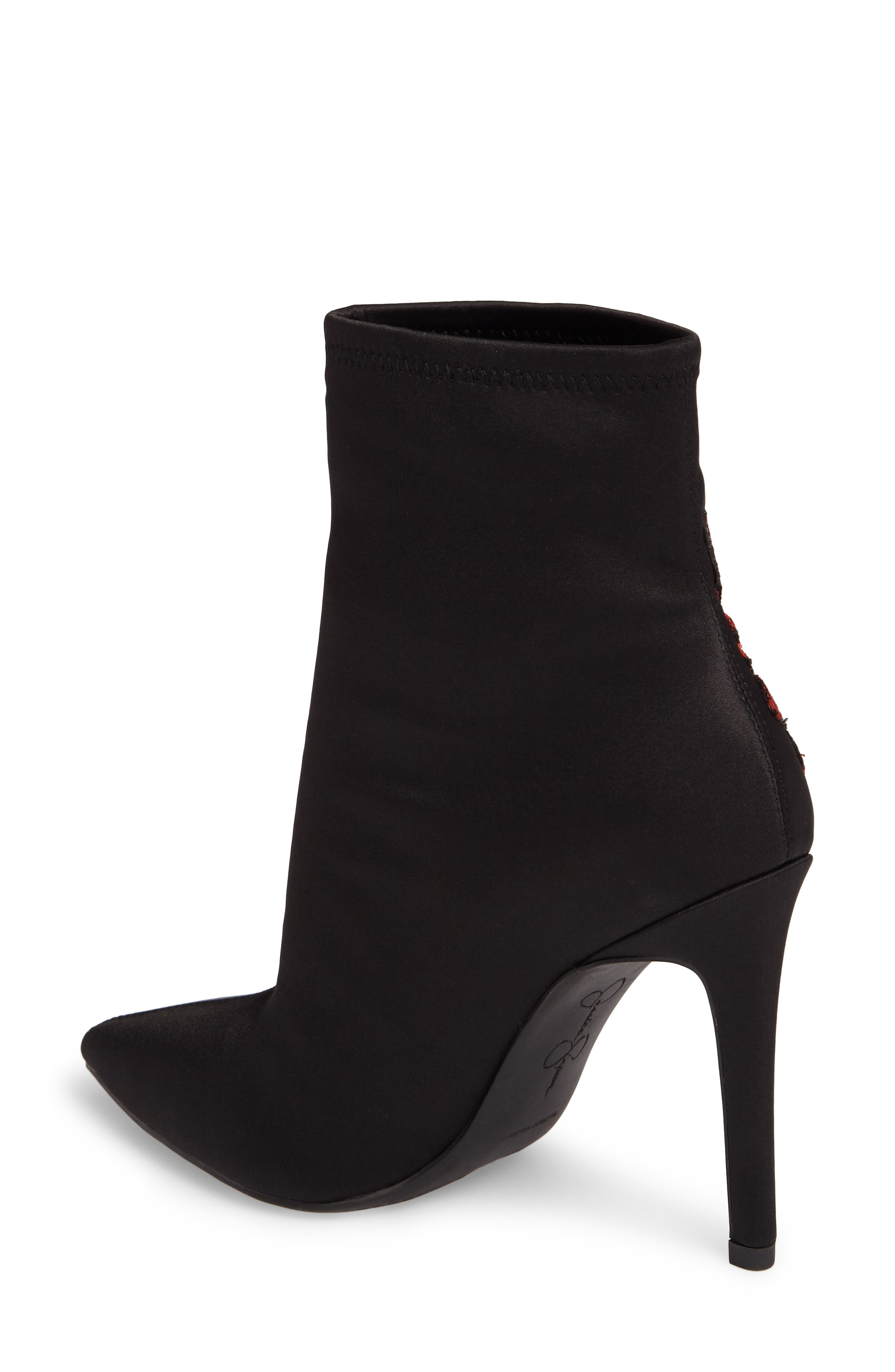 Pelanna Appliqué Stretch Bootie,                             Alternate thumbnail 2, color,                             001