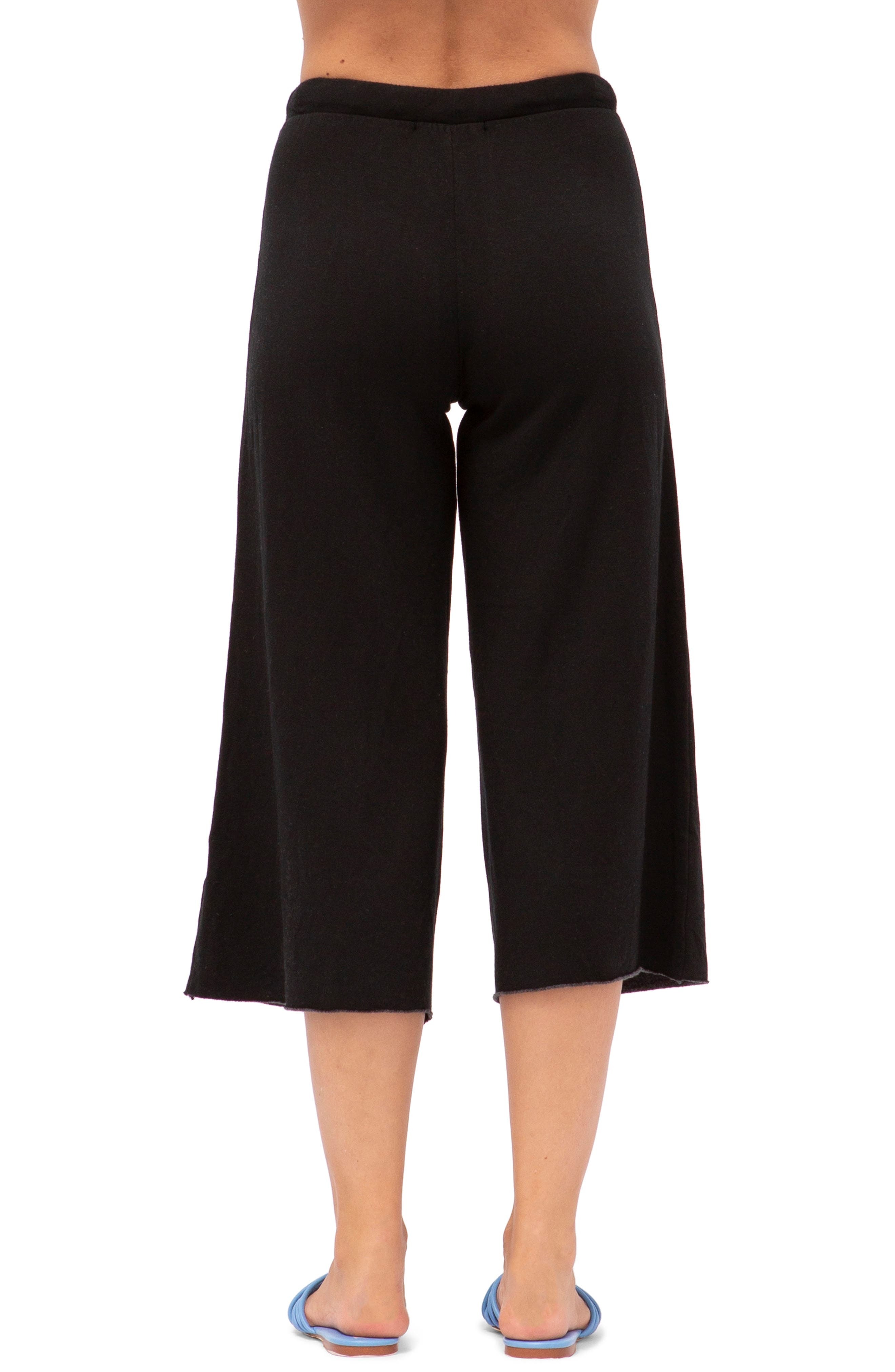 Crop Sweatpants,                             Main thumbnail 1, color,                             BLACK