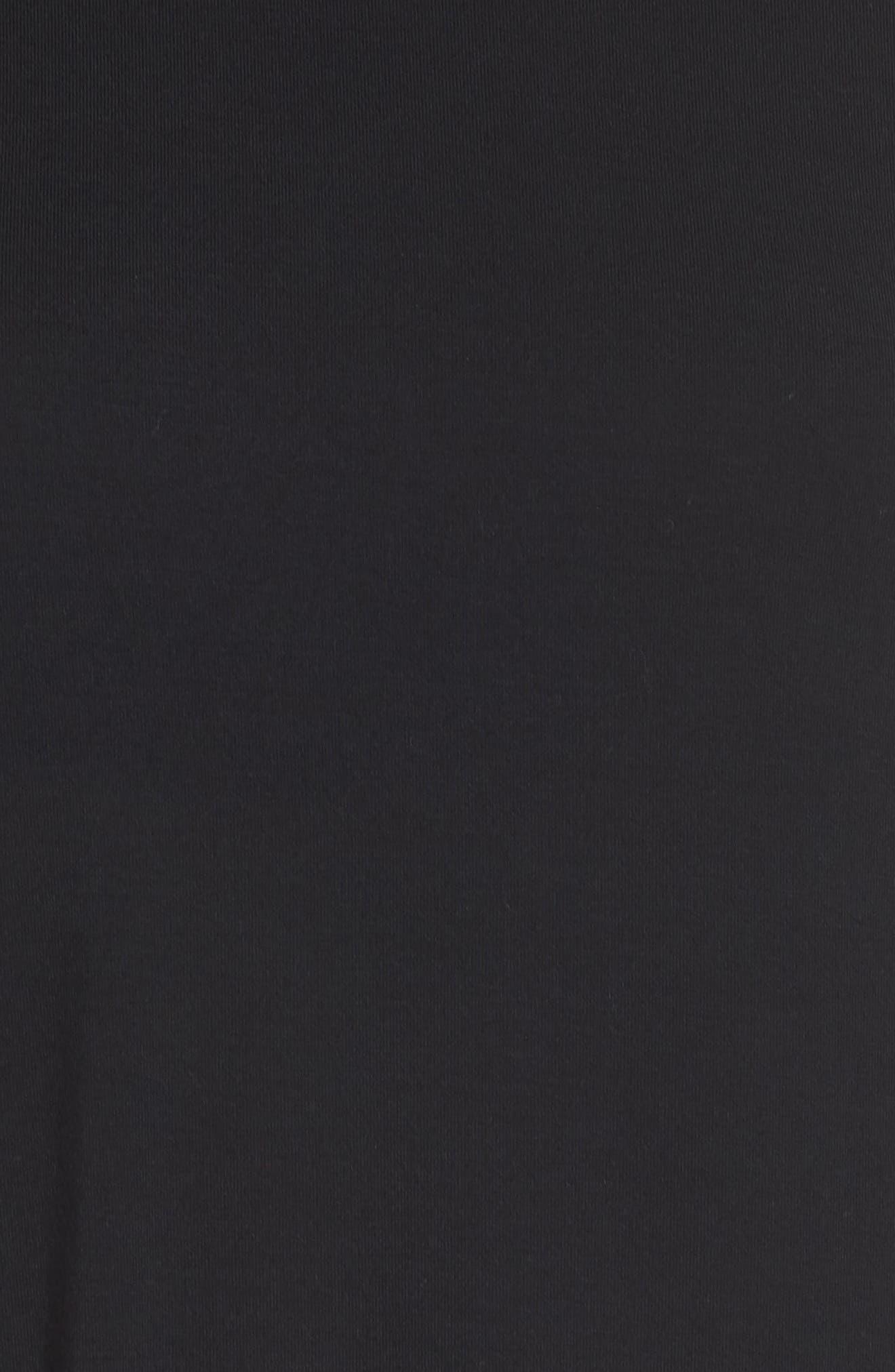 Luxury Sleep Shirt,                             Alternate thumbnail 5, color,                             BLACK