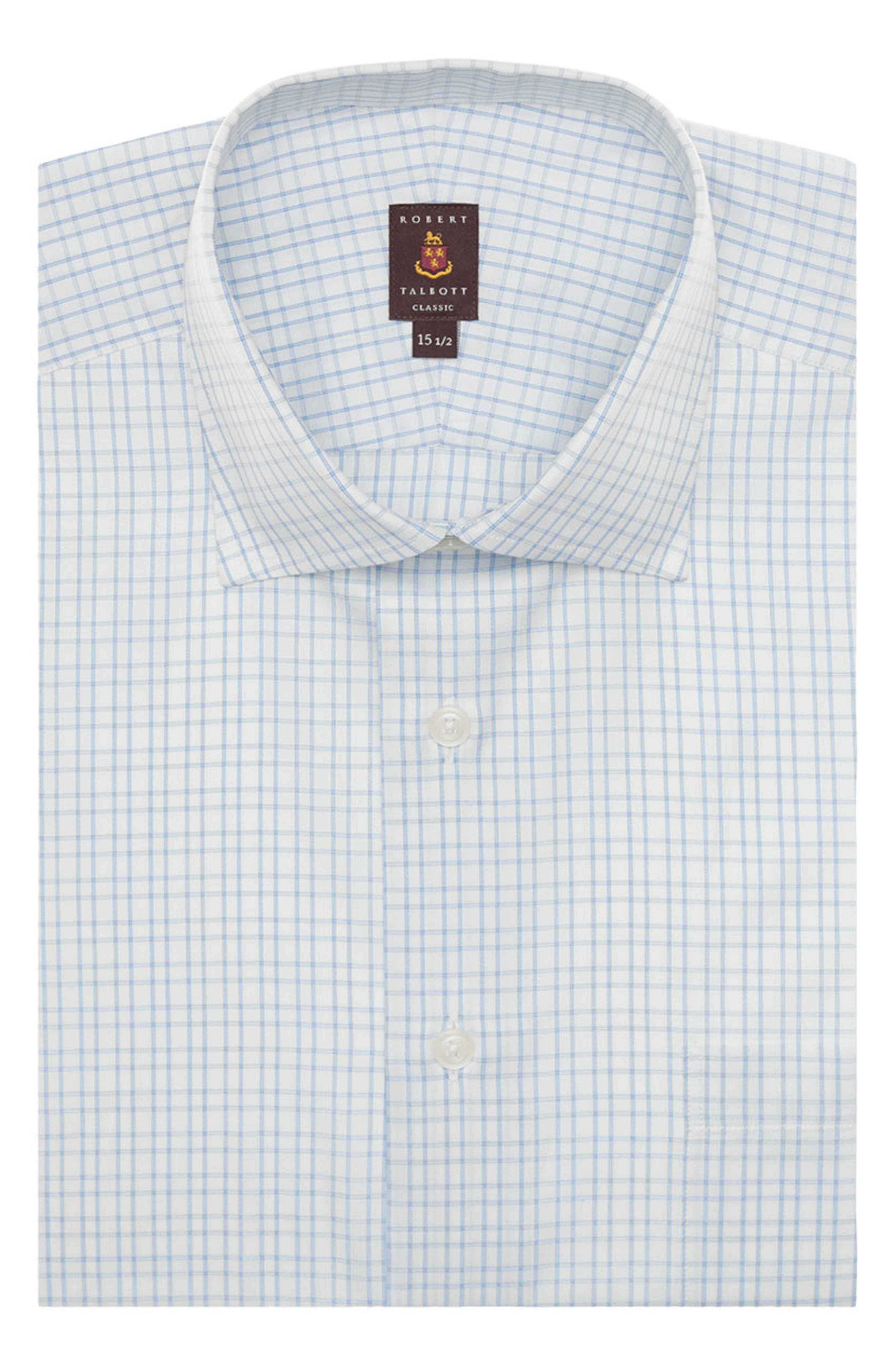 Tailored Fit Check Dress Shirt,                         Main,                         color, 479