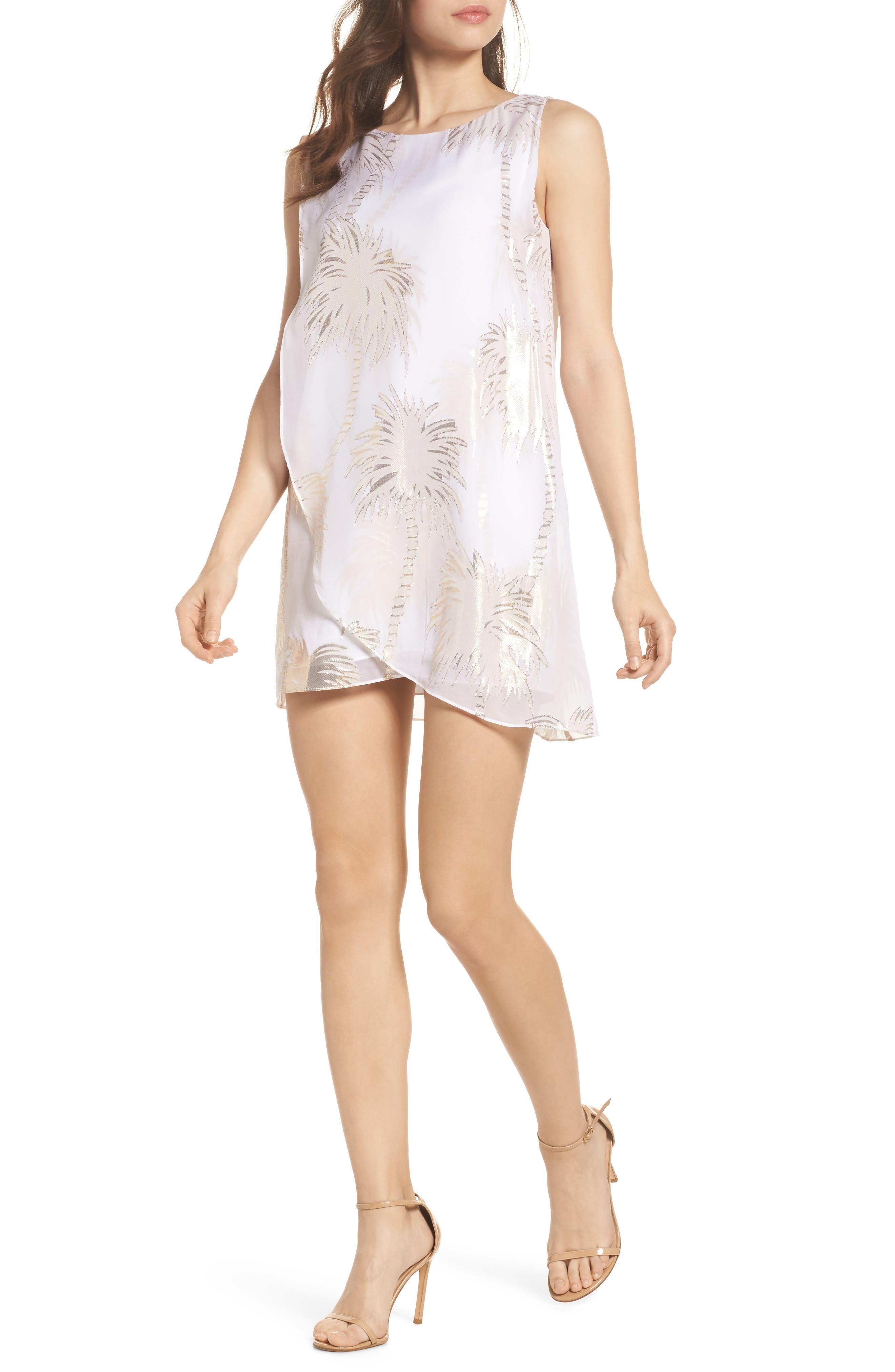 Calissa Silk Dress,                             Alternate thumbnail 5, color,                             100