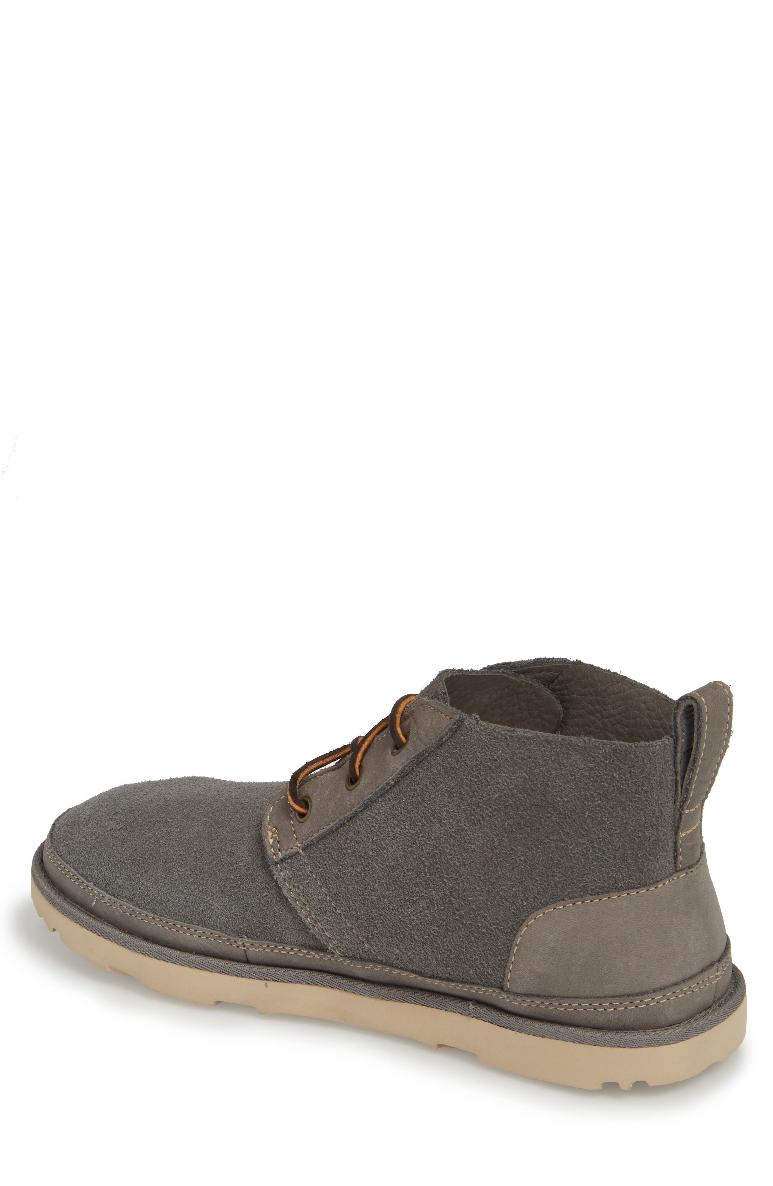 Neumel Unlined Chukka Boot,                             Alternate thumbnail 2, color,                             CHARCOAL LEATHER