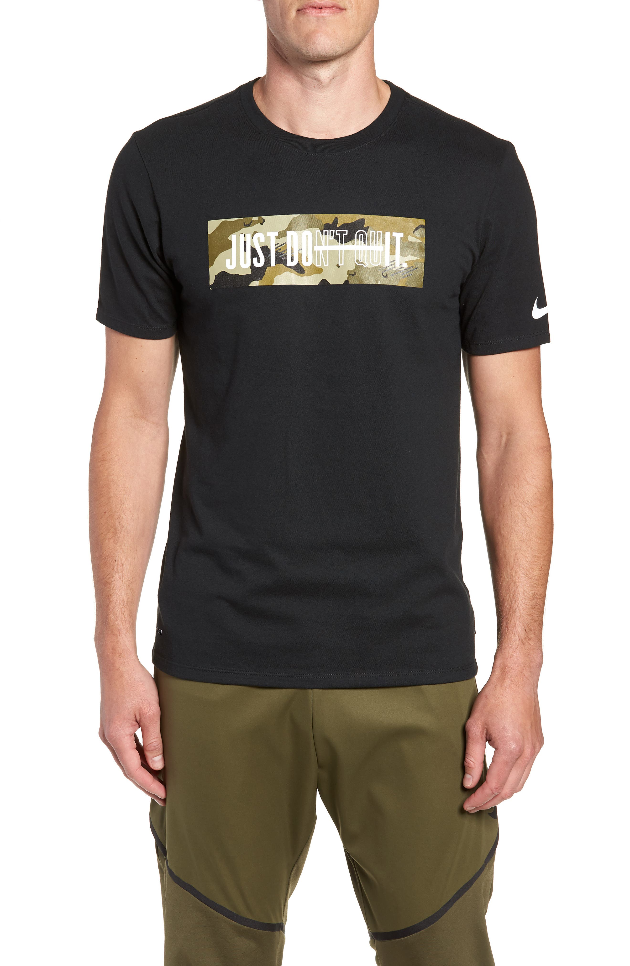 Dry Just Don't Quit T-Shirt,                         Main,                         color, 010