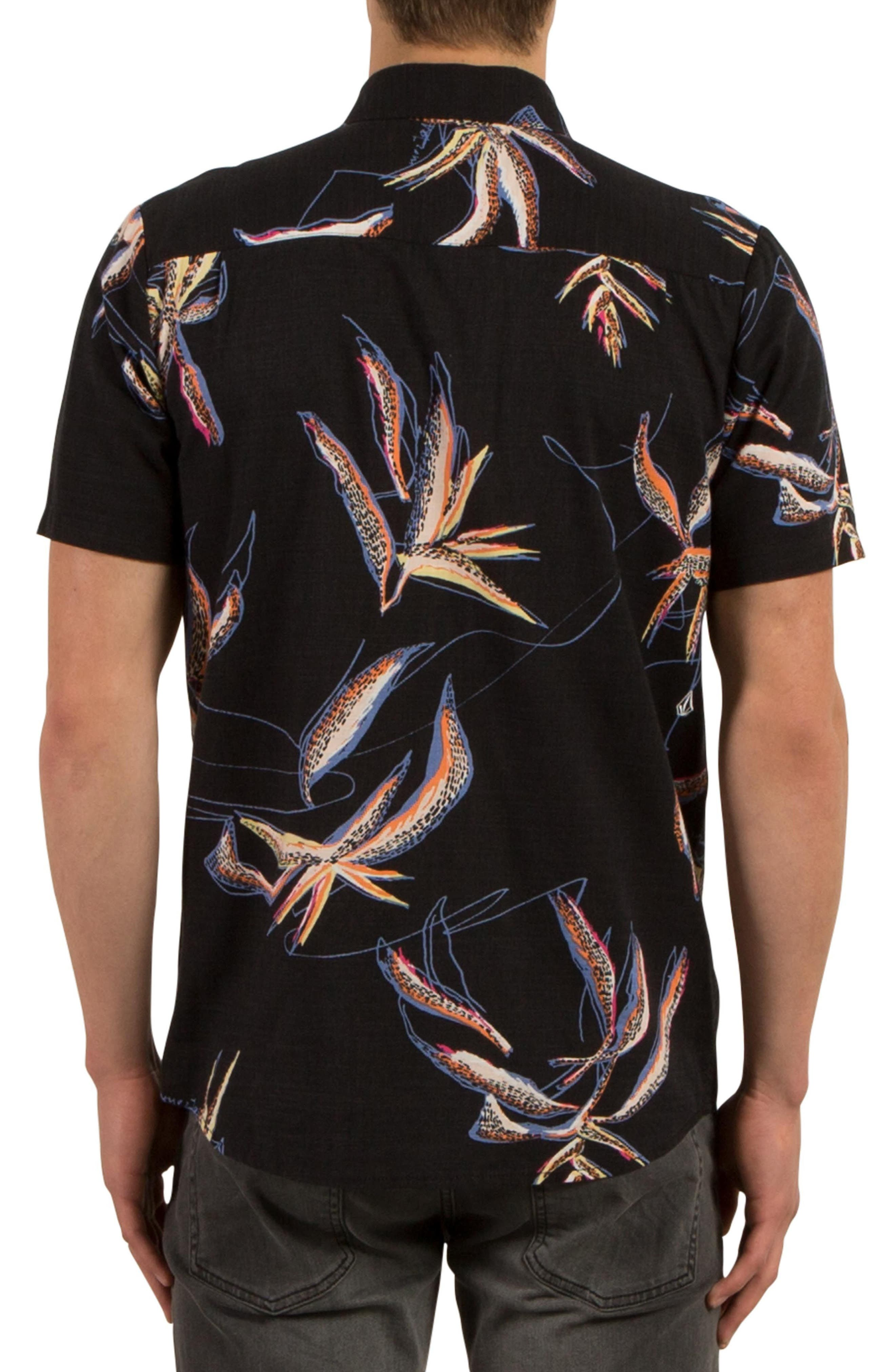 Motel Floral Print Shirt,                             Alternate thumbnail 2, color,                             001