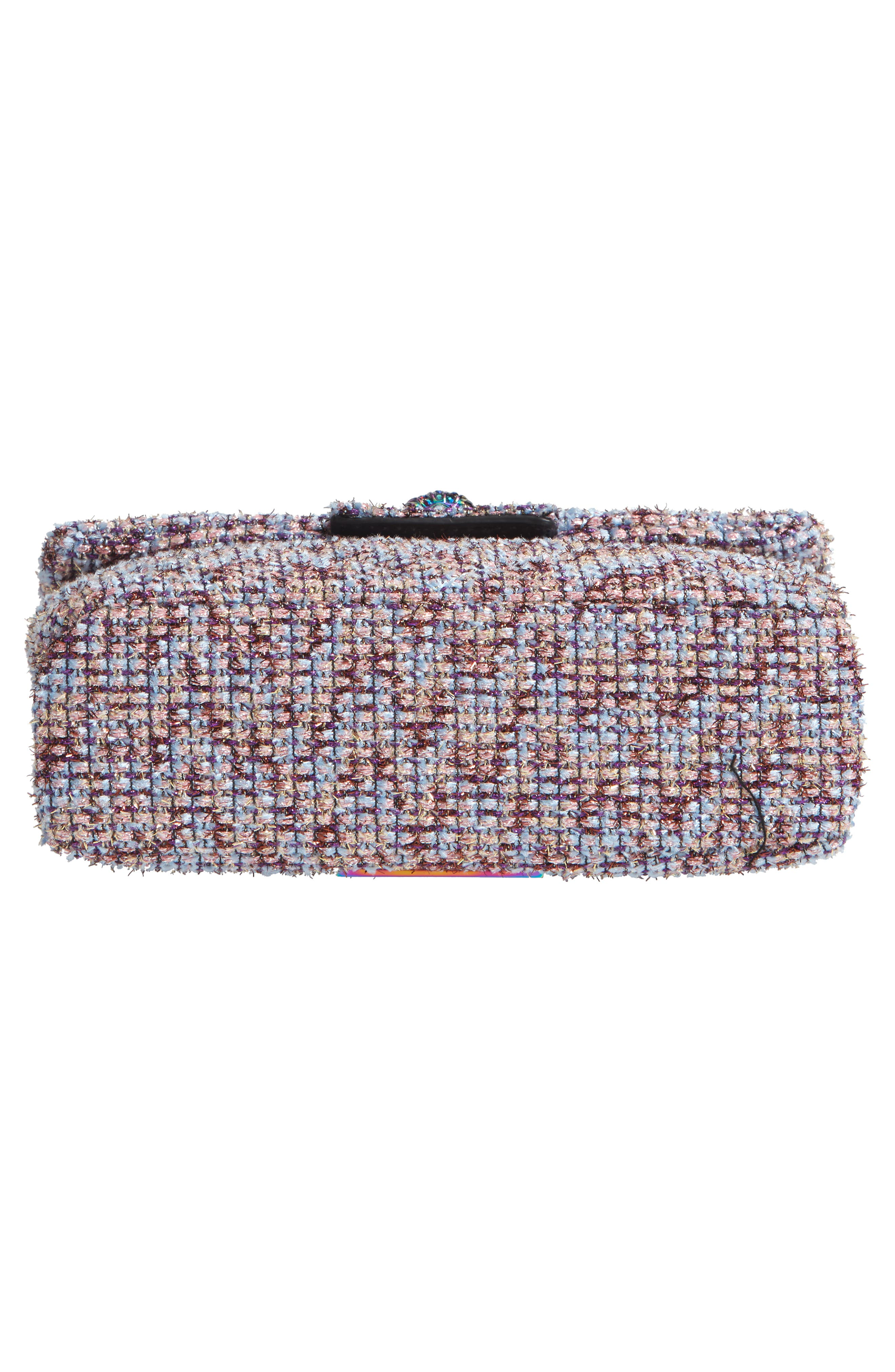 Mini Kensington Tweed Crossbody Bag,                             Alternate thumbnail 6, color,                             PINK