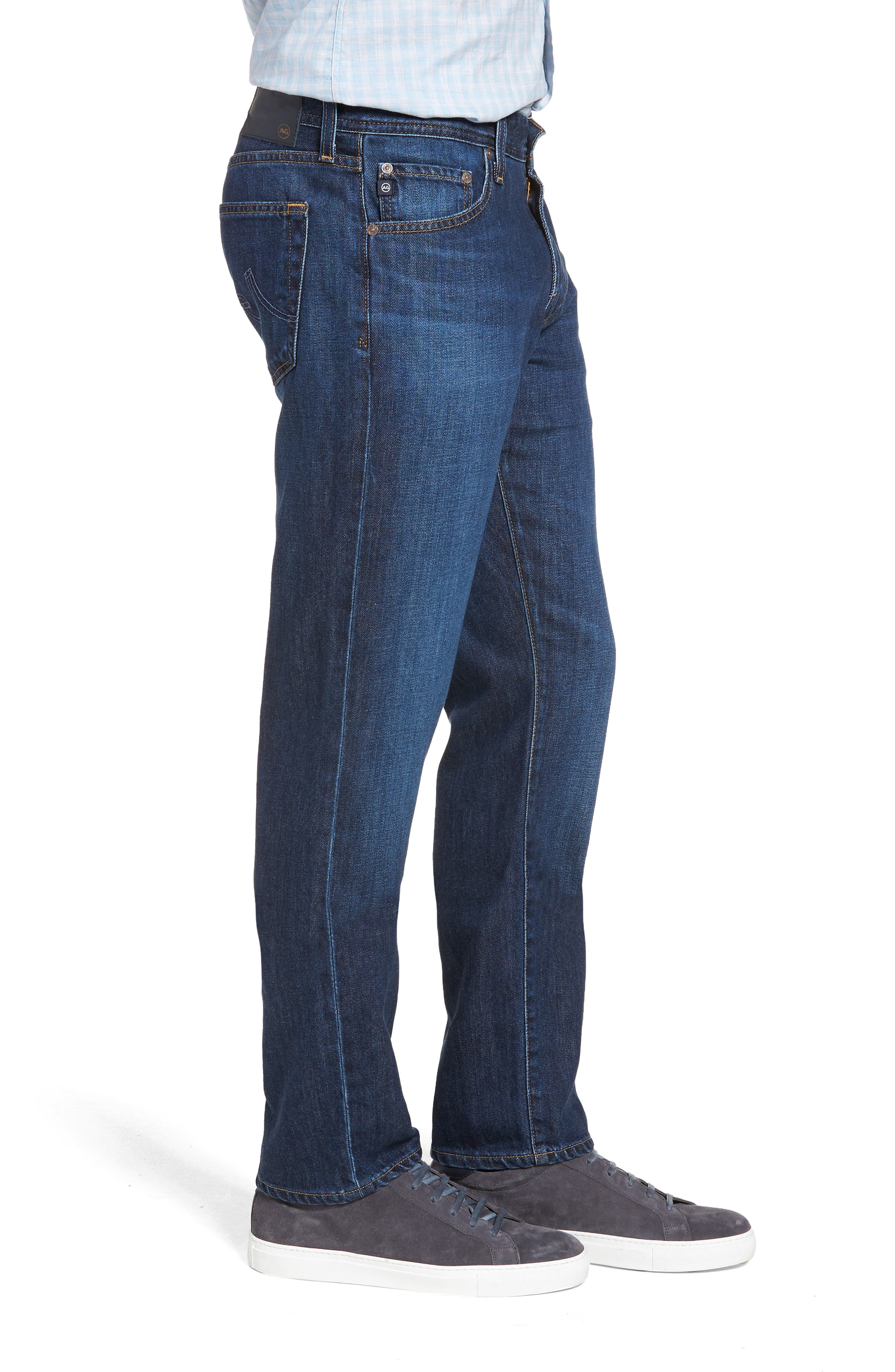 Graduate Slim Straight Leg Jeans,                             Alternate thumbnail 3, color,                             ROULETTE
