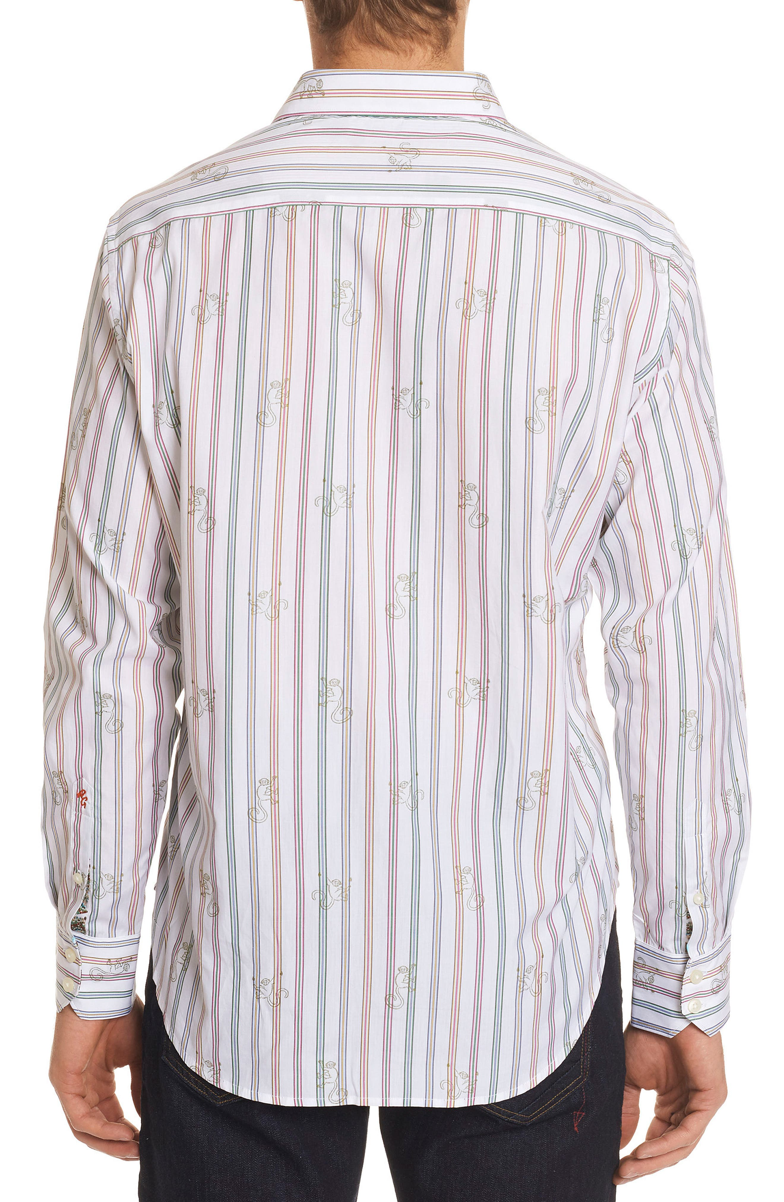 Trinidad Classic Fit Print Sport Shirt,                             Alternate thumbnail 2, color,