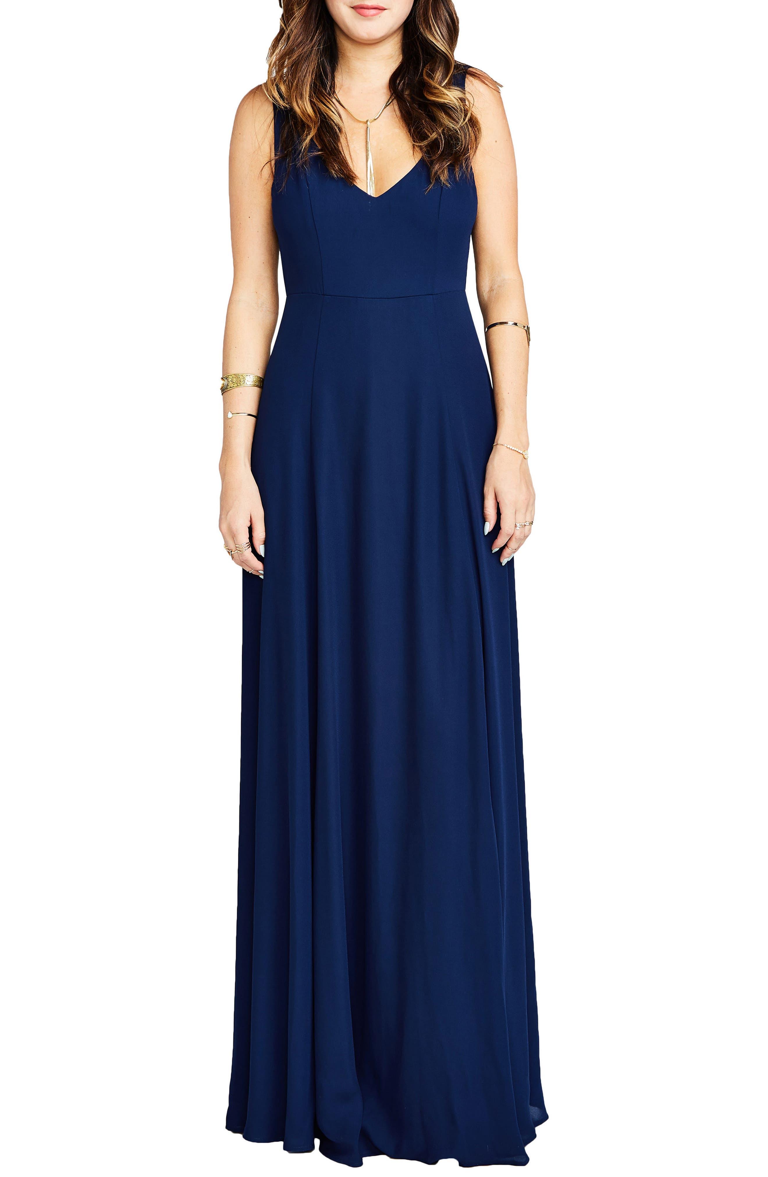 Show Me Your Mumu Jen Maxi Gown, Blue