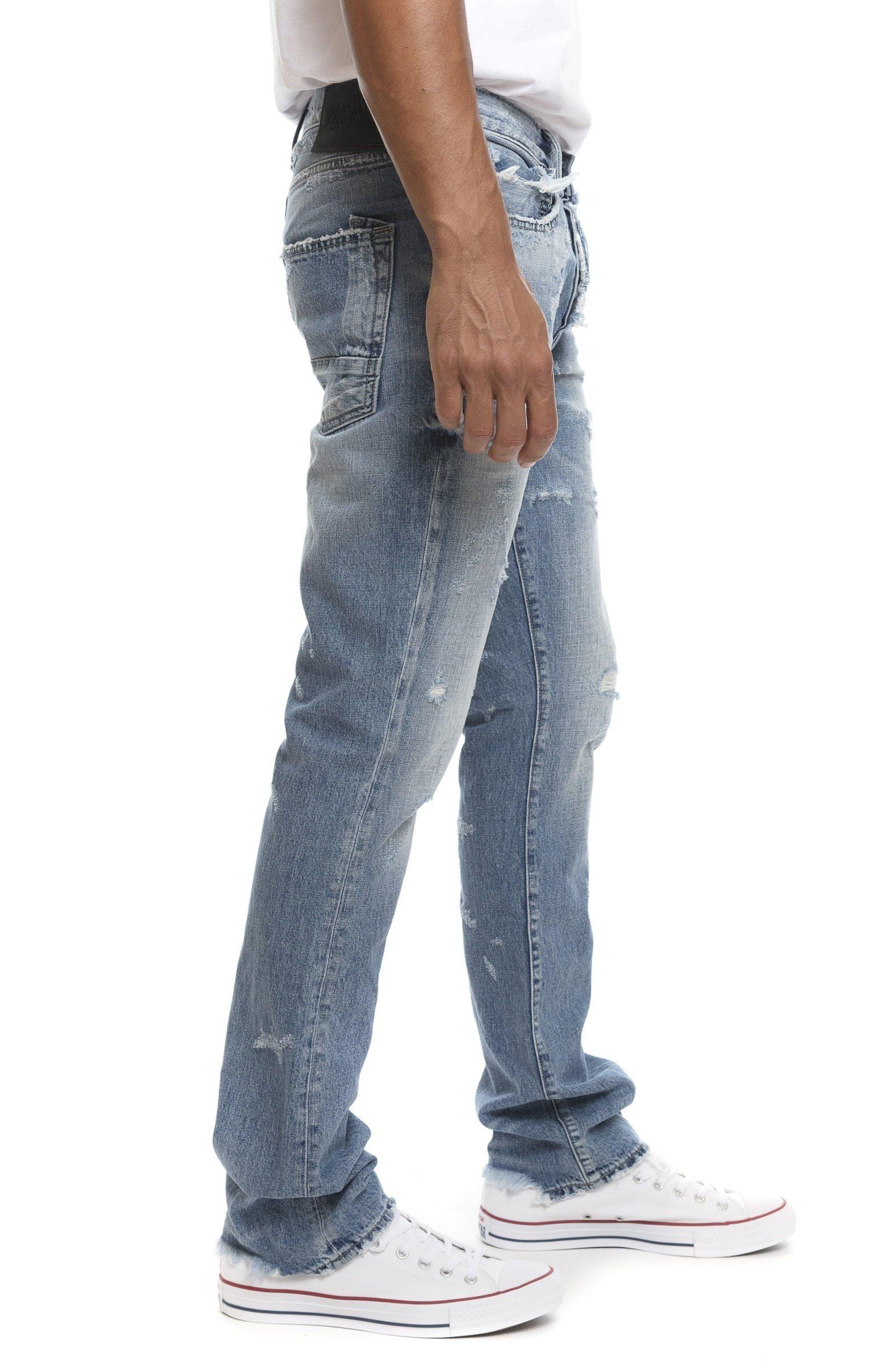 Demon Slim Straight Leg Jeans,                             Alternate thumbnail 3, color,                             454