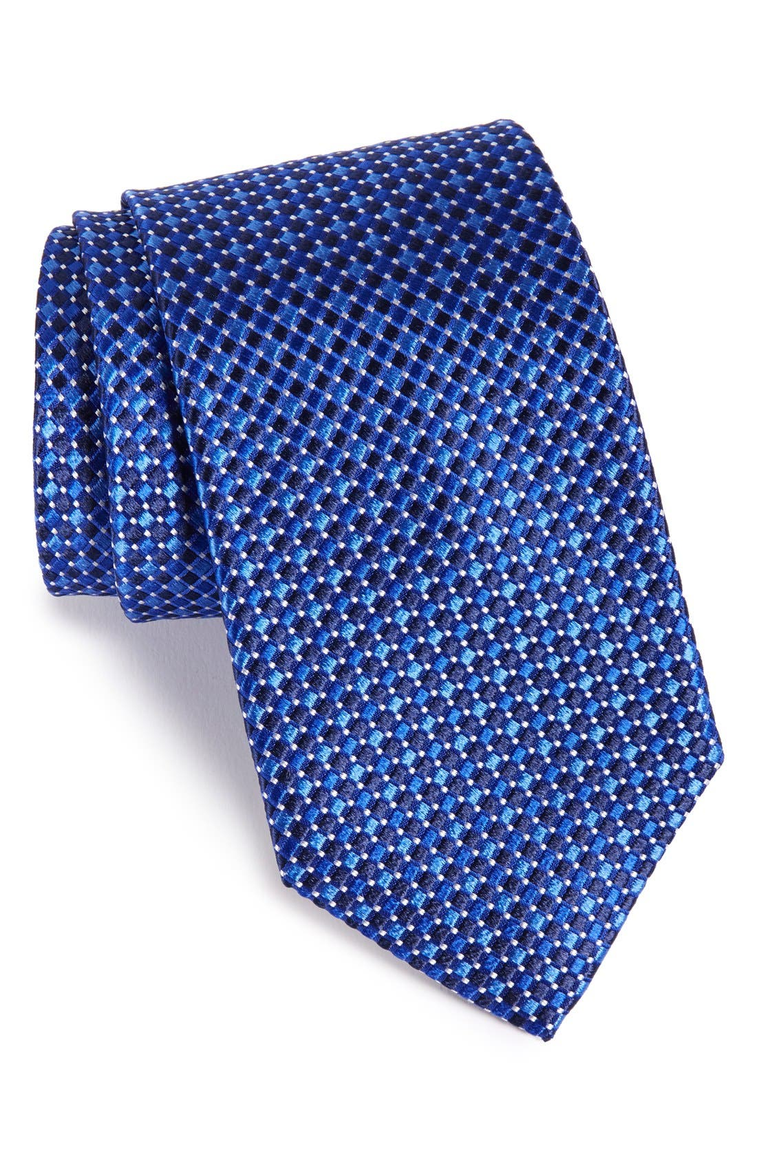 Geo Pattern Silk Tie,                             Main thumbnail 4, color,