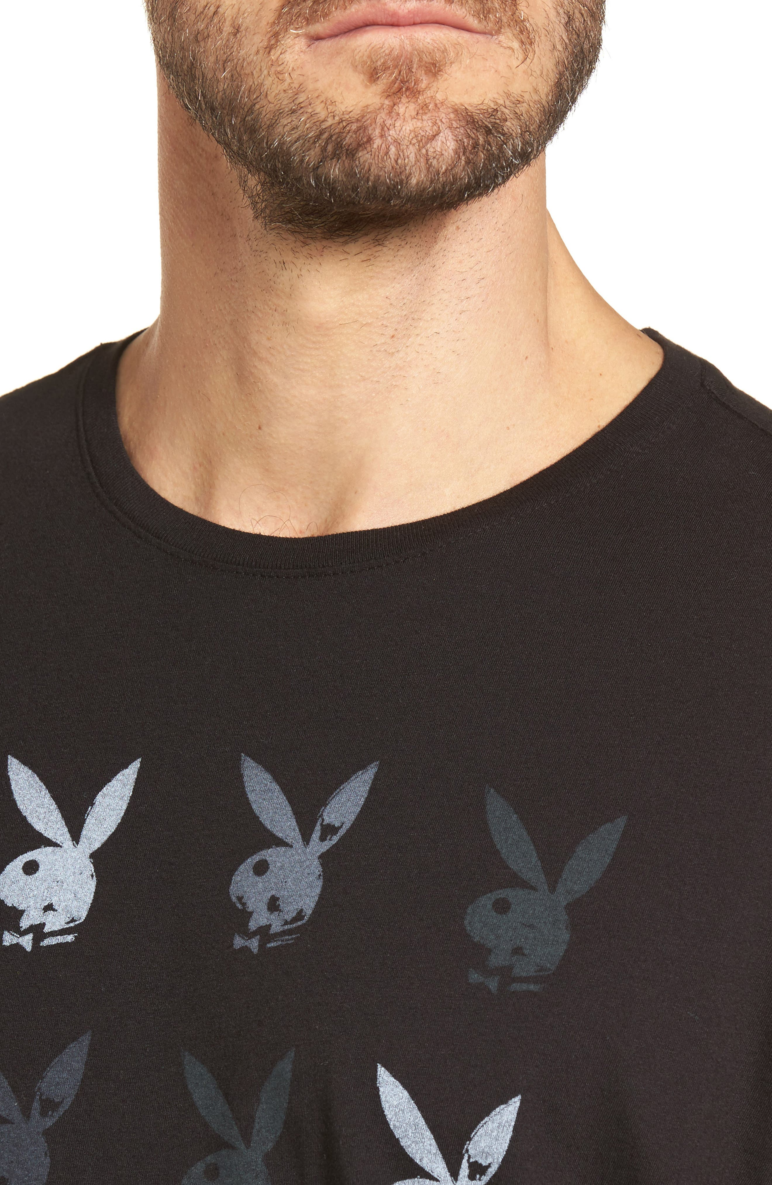 Playboy Rows Graphic T-Shirt,                             Alternate thumbnail 4, color,                             001