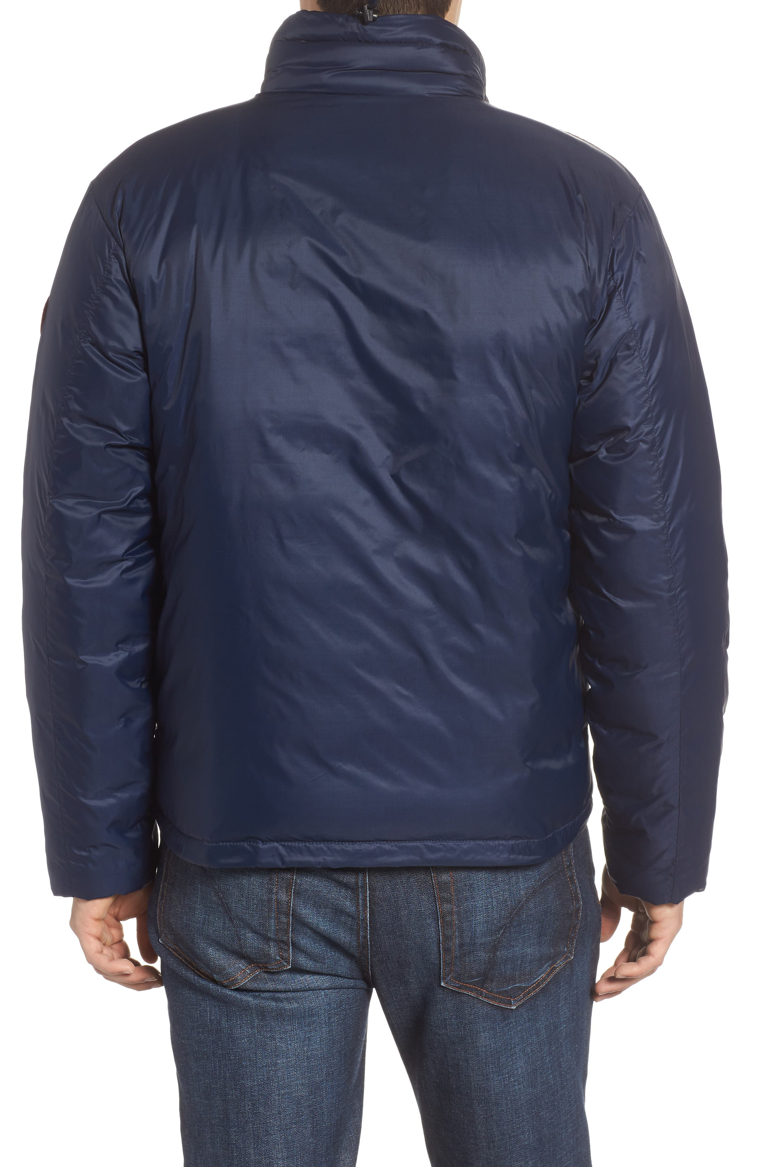 'Lodge' Slim Fit Packable Windproof 750 Down Fill Jacket,                             Alternate thumbnail 2, color,                             ADMIRAL BLUE/ BLACK