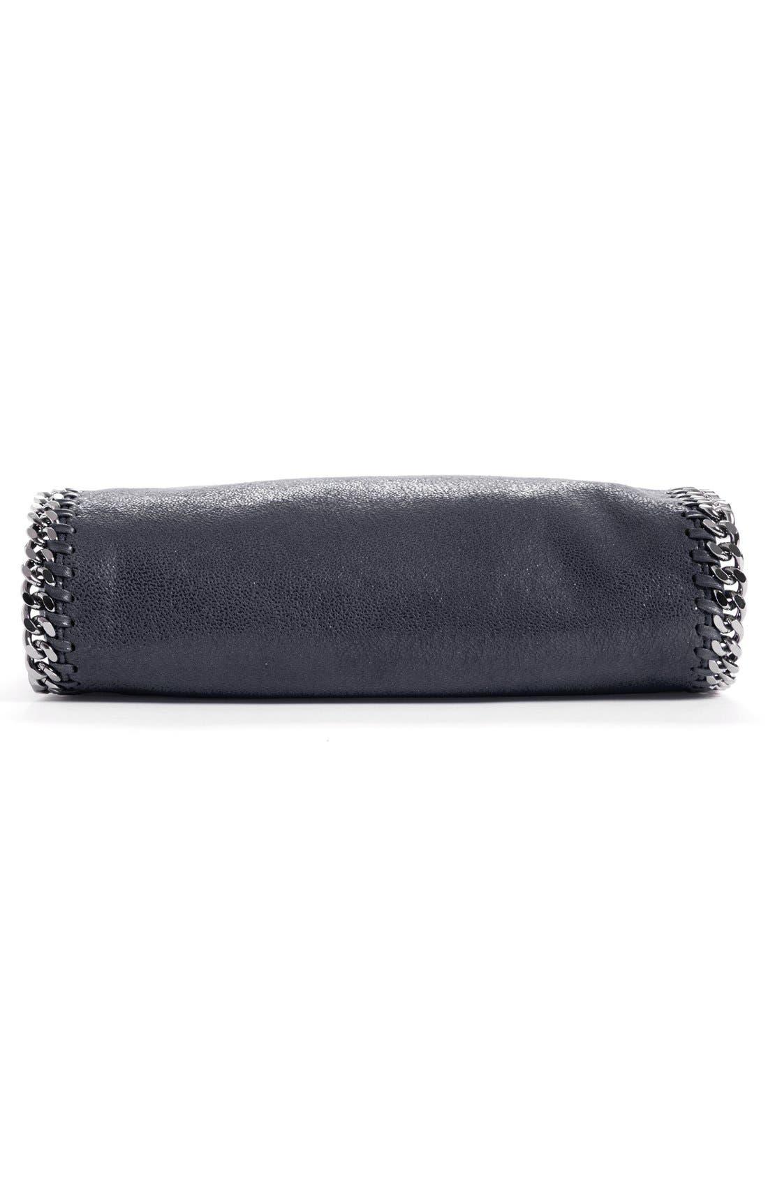 'Mini Falabella - Shaggy Deer' Faux Leather Tote,                             Alternate thumbnail 3, color,                             BLACK W/ SILVER