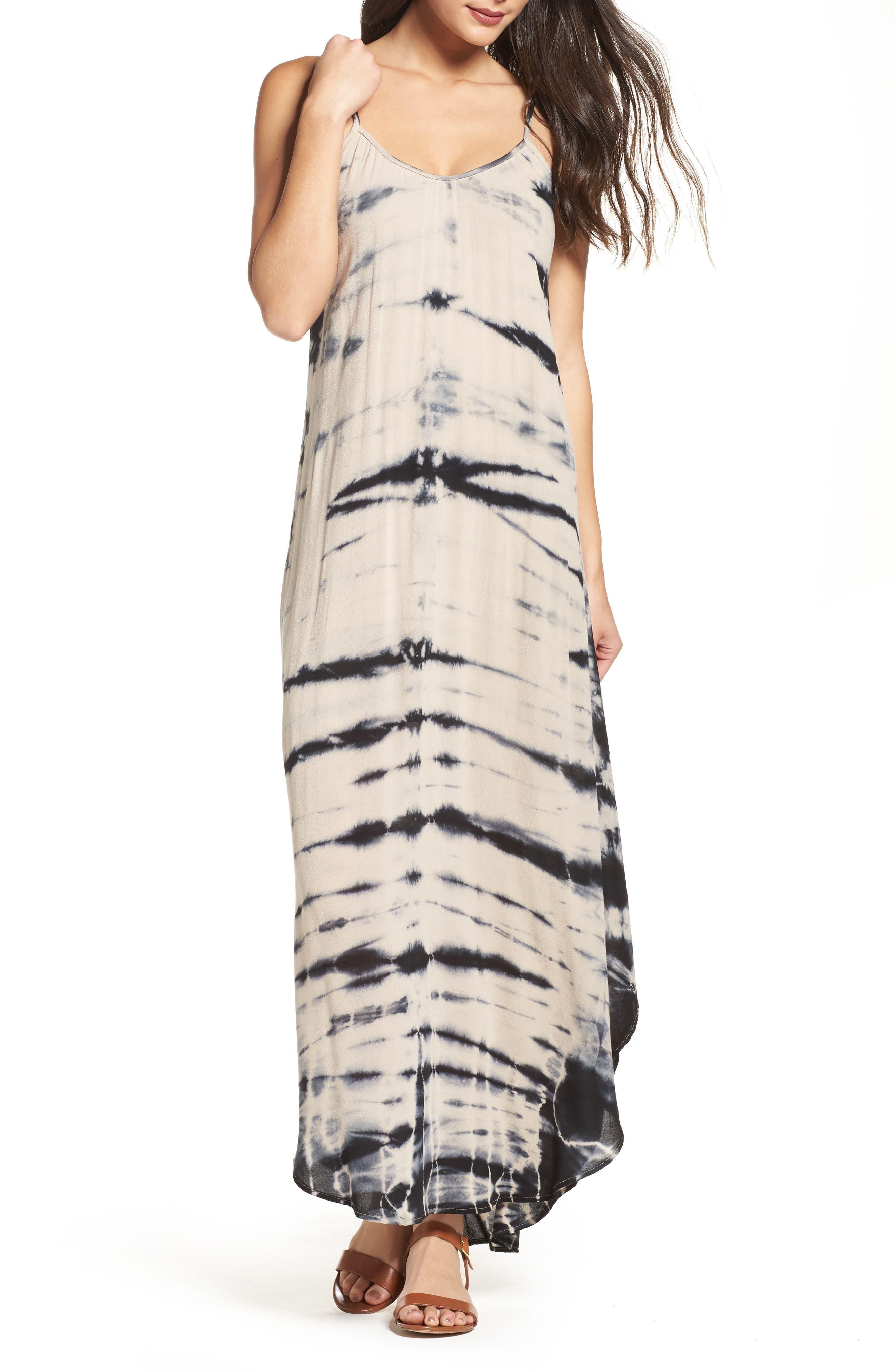 Tie Dye A-Line Maxi Dress,                             Main thumbnail 1, color,                             250
