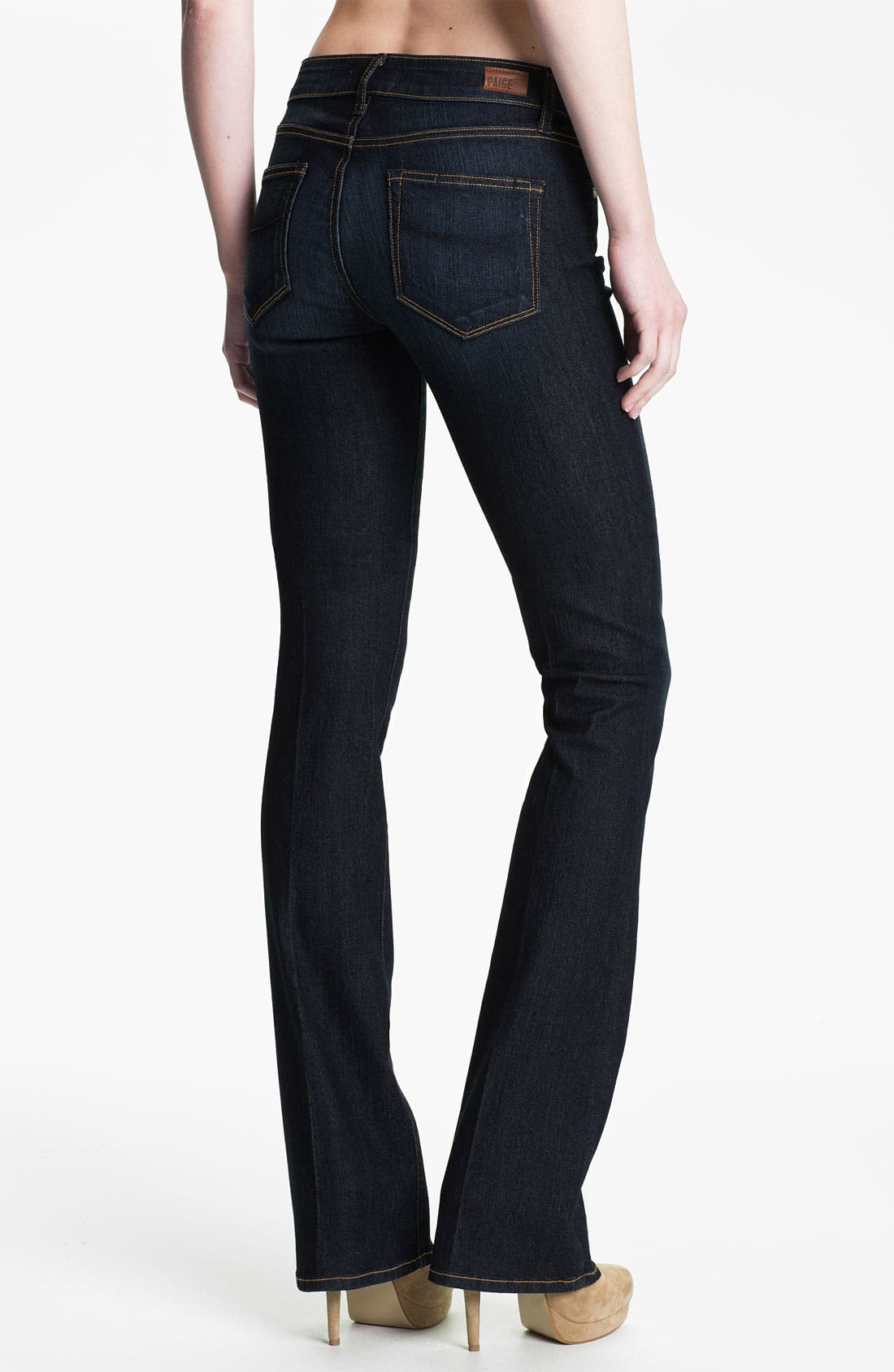 Denim 'Manhattan' Baby Bootcut Jeans,                             Alternate thumbnail 3, color,                             400