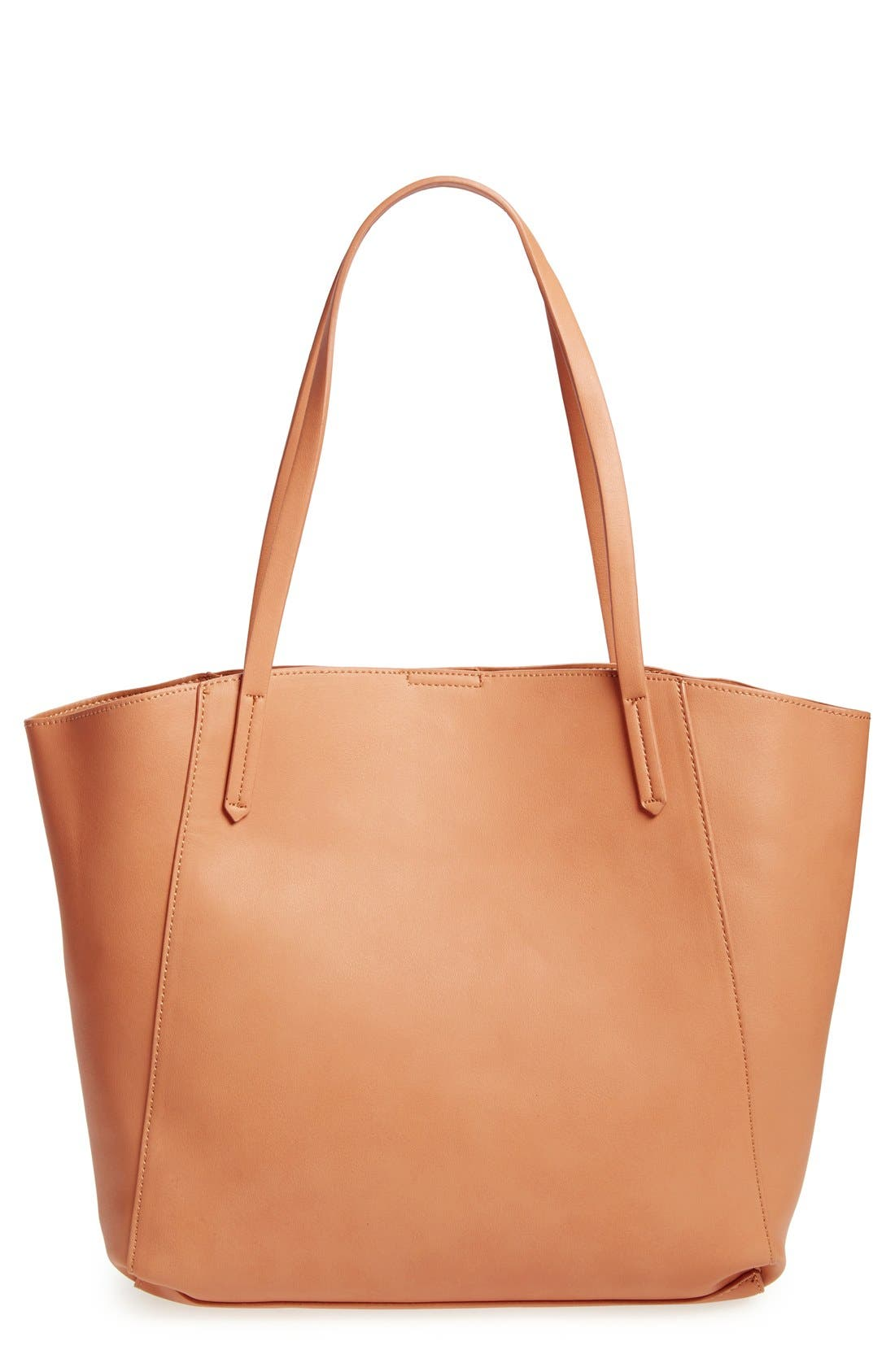 Colorblock Faux Leather Tote,                             Main thumbnail 3, color,