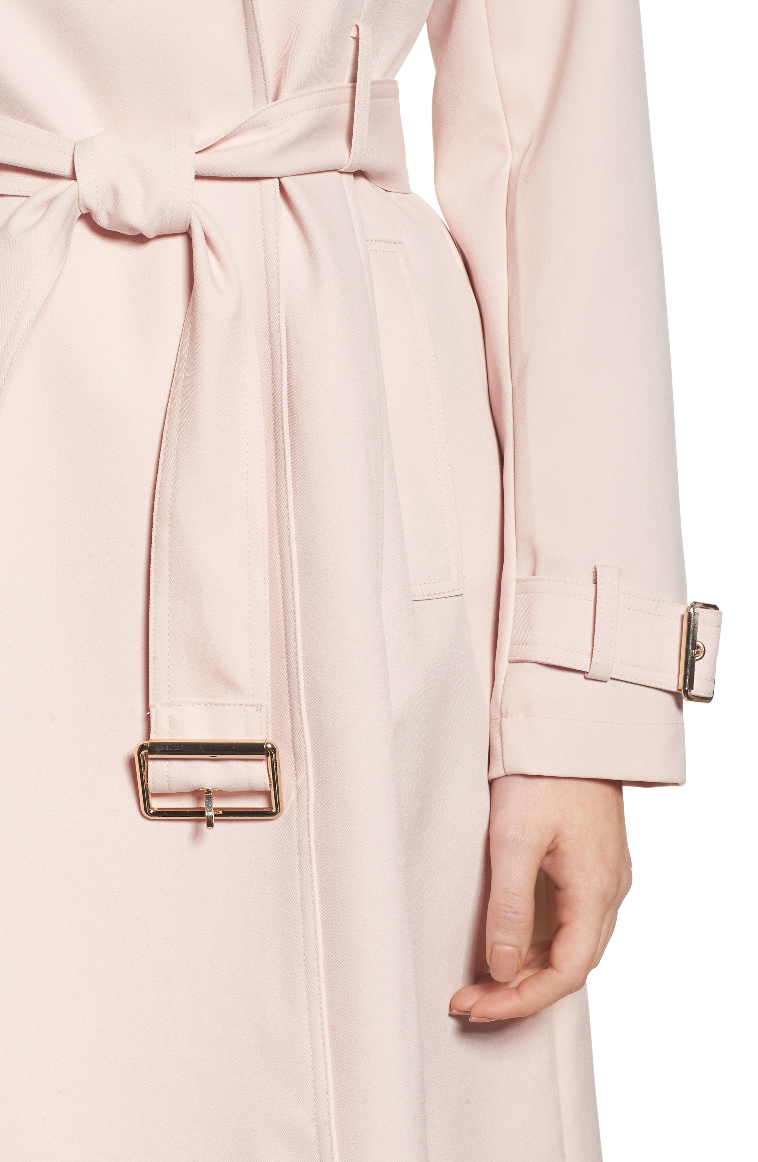 Flowy Belted Trench Coat,                             Alternate thumbnail 15, color,