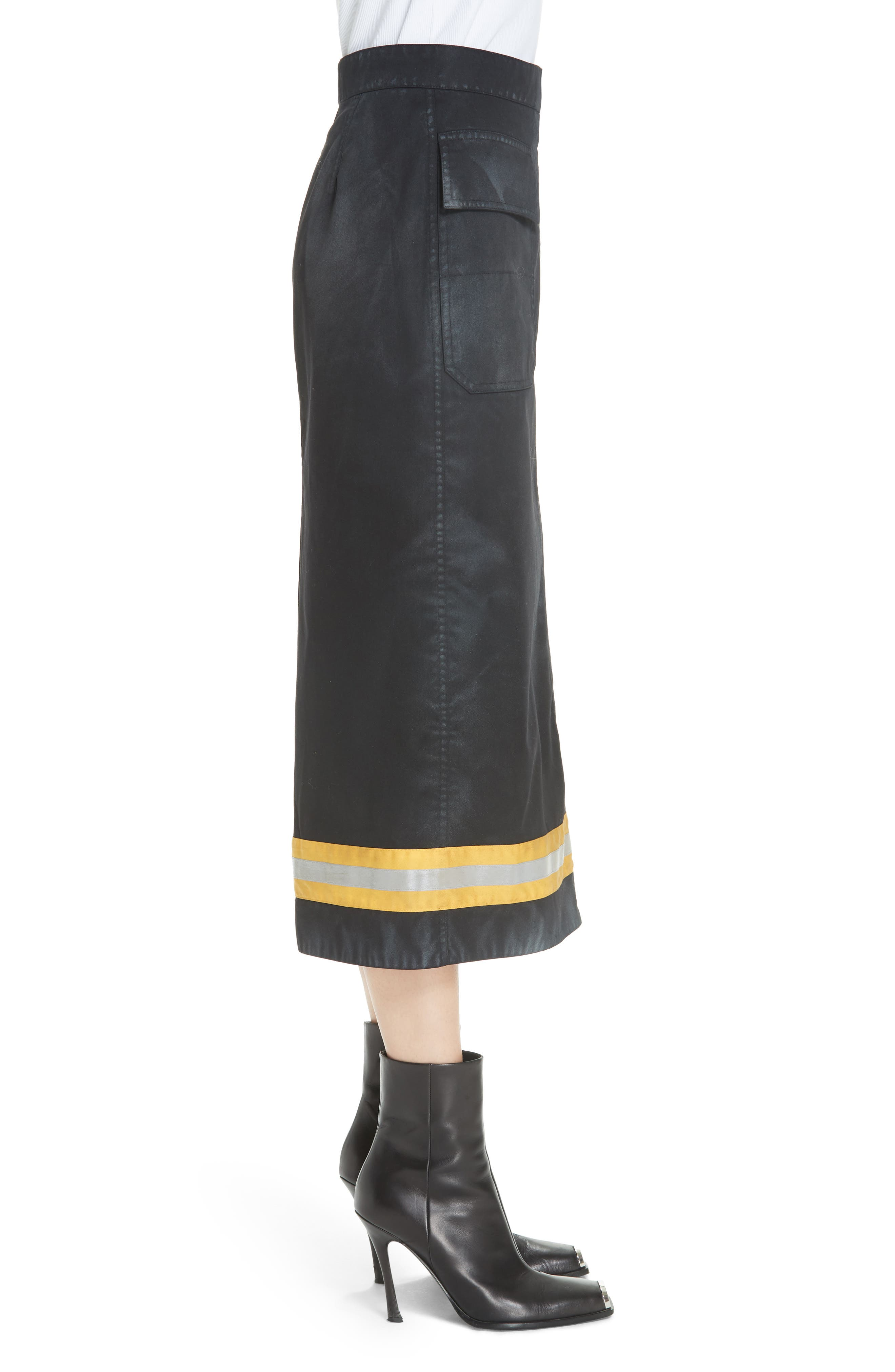Fireman Skirt,                             Alternate thumbnail 3, color,                             BLACK