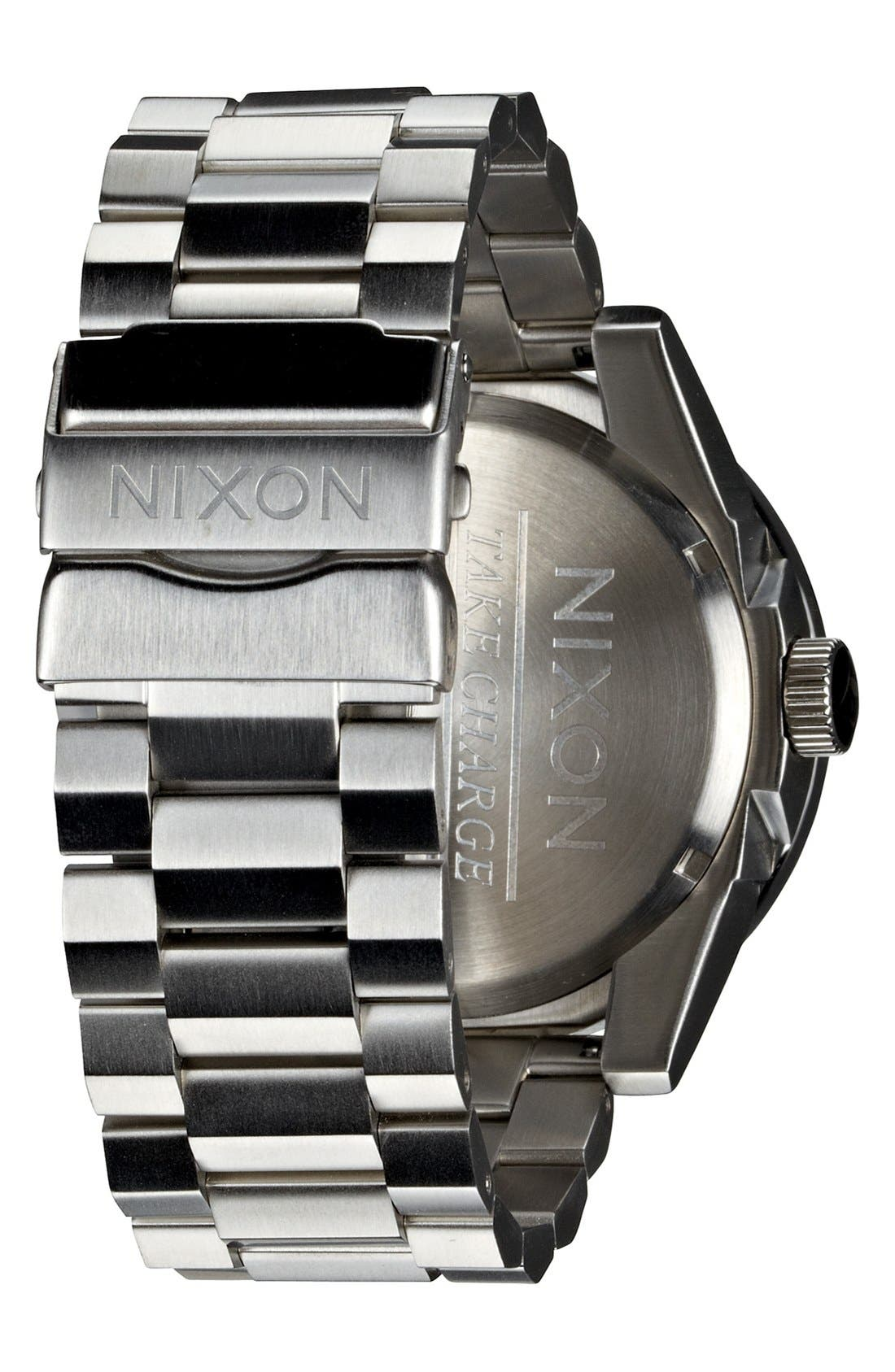 'The Corporal' Bracelet Watch, 48mm,                             Alternate thumbnail 4, color,                             SILVER/ BLUE SUNRAY