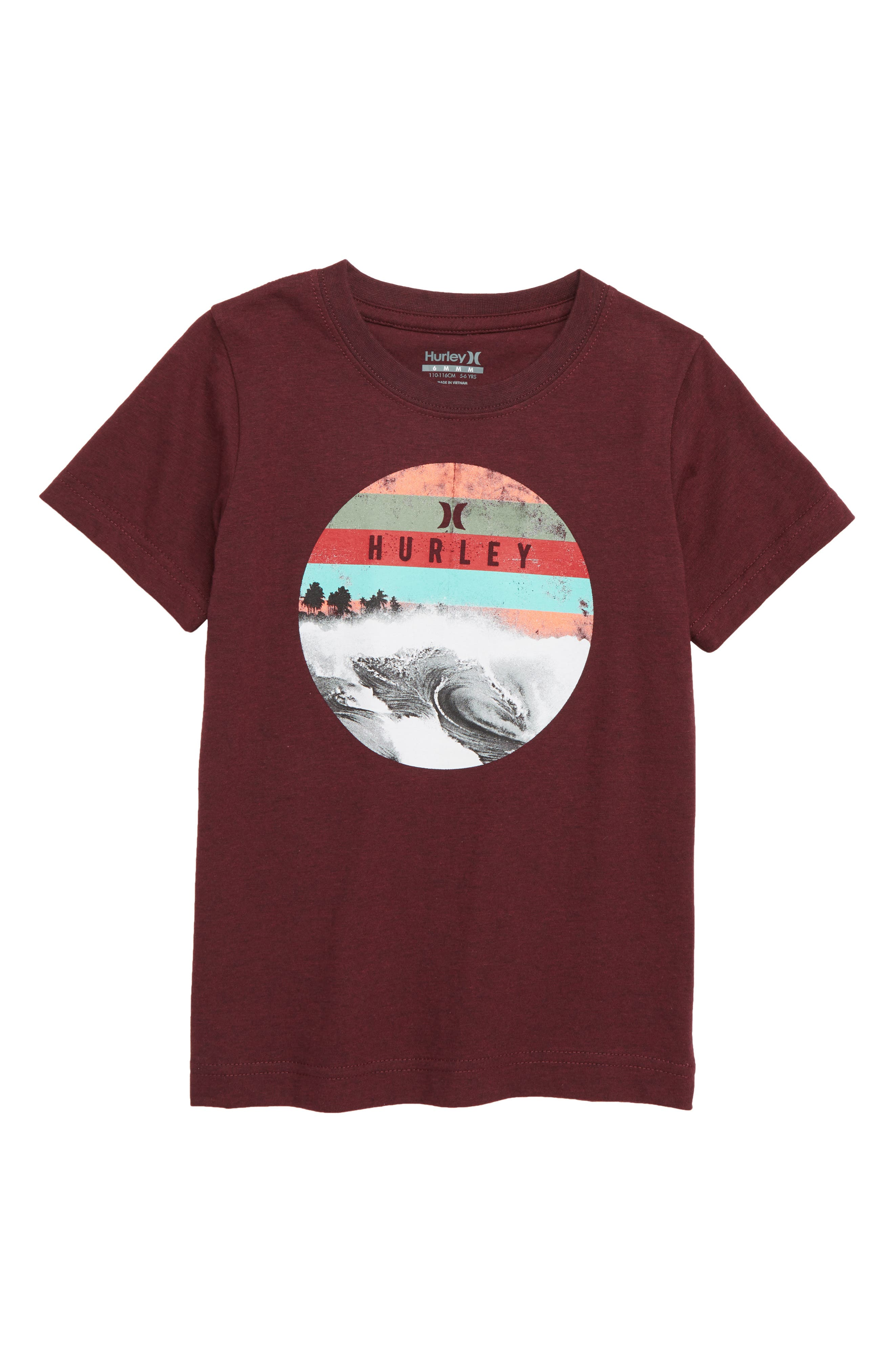 Dusk T-Shirt,                             Main thumbnail 1, color,                             DEEP MAROON HEATHER