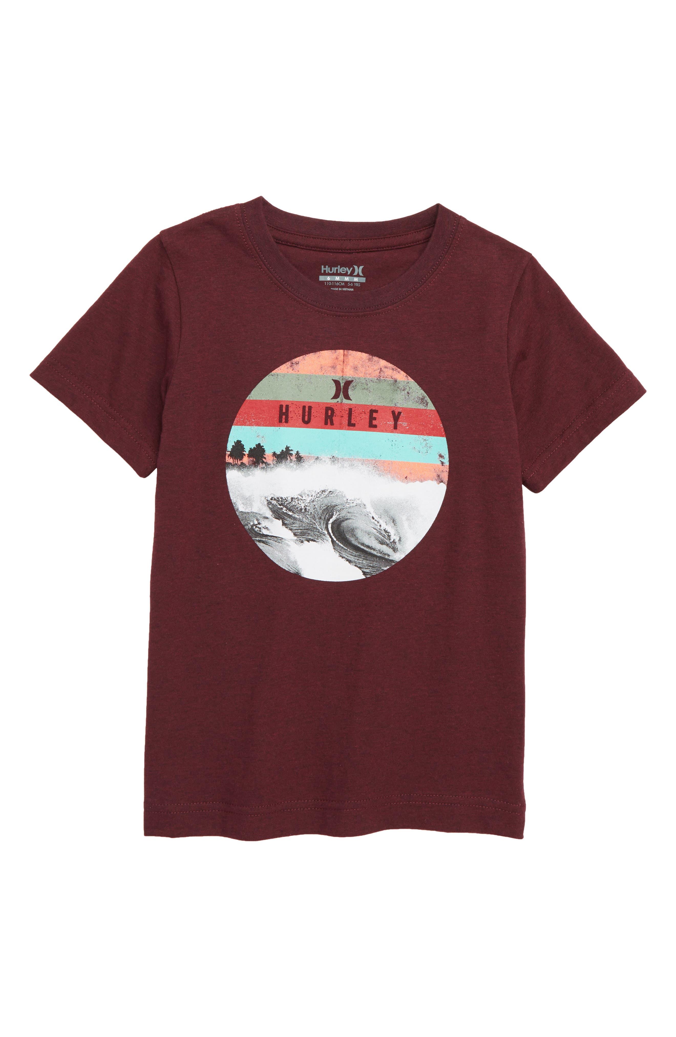 Dusk T-Shirt,                         Main,                         color, DEEP MAROON HEATHER