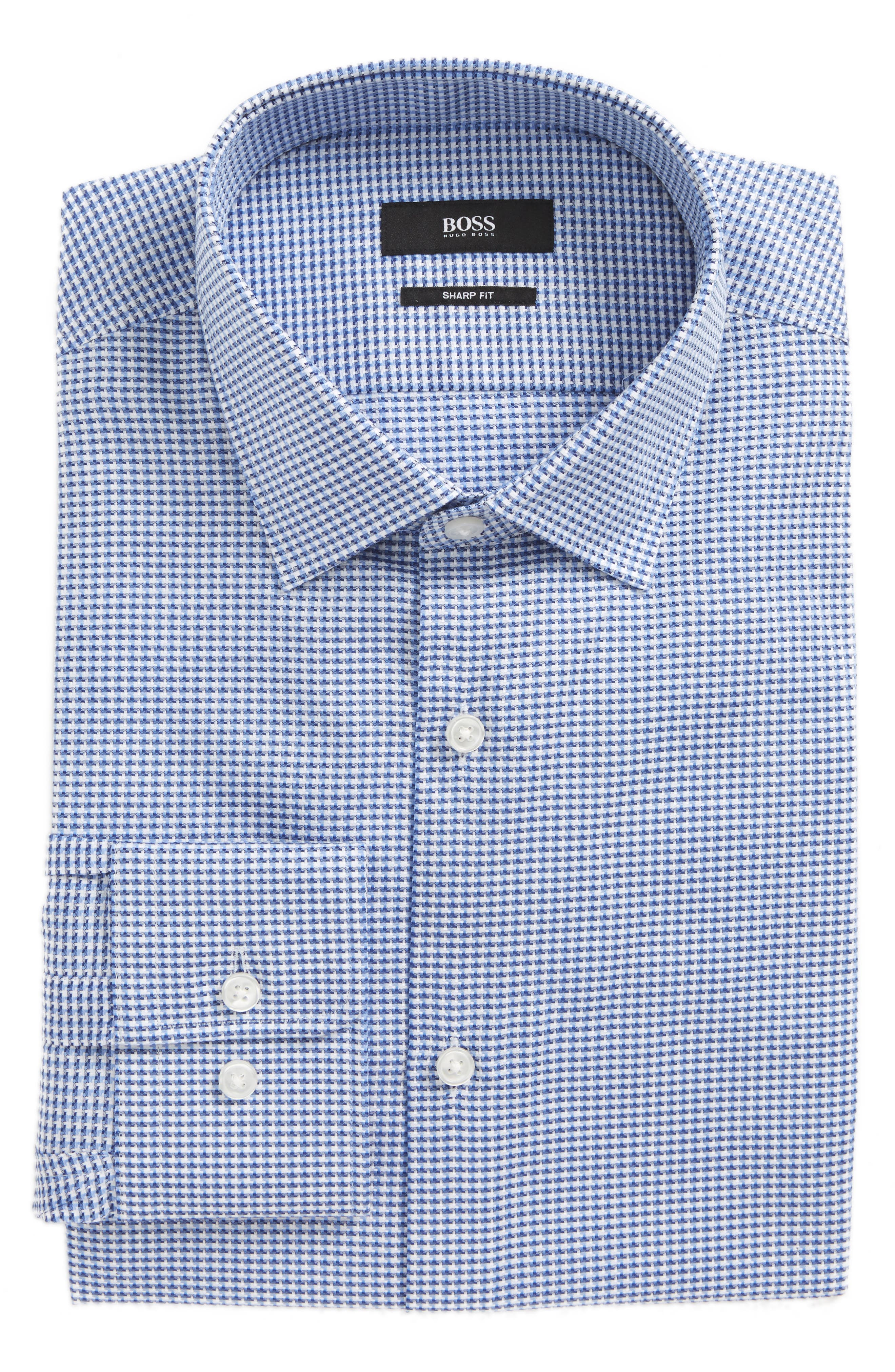 Marley Sharp Fit Check Dress Shirt,                             Main thumbnail 1, color,                             450