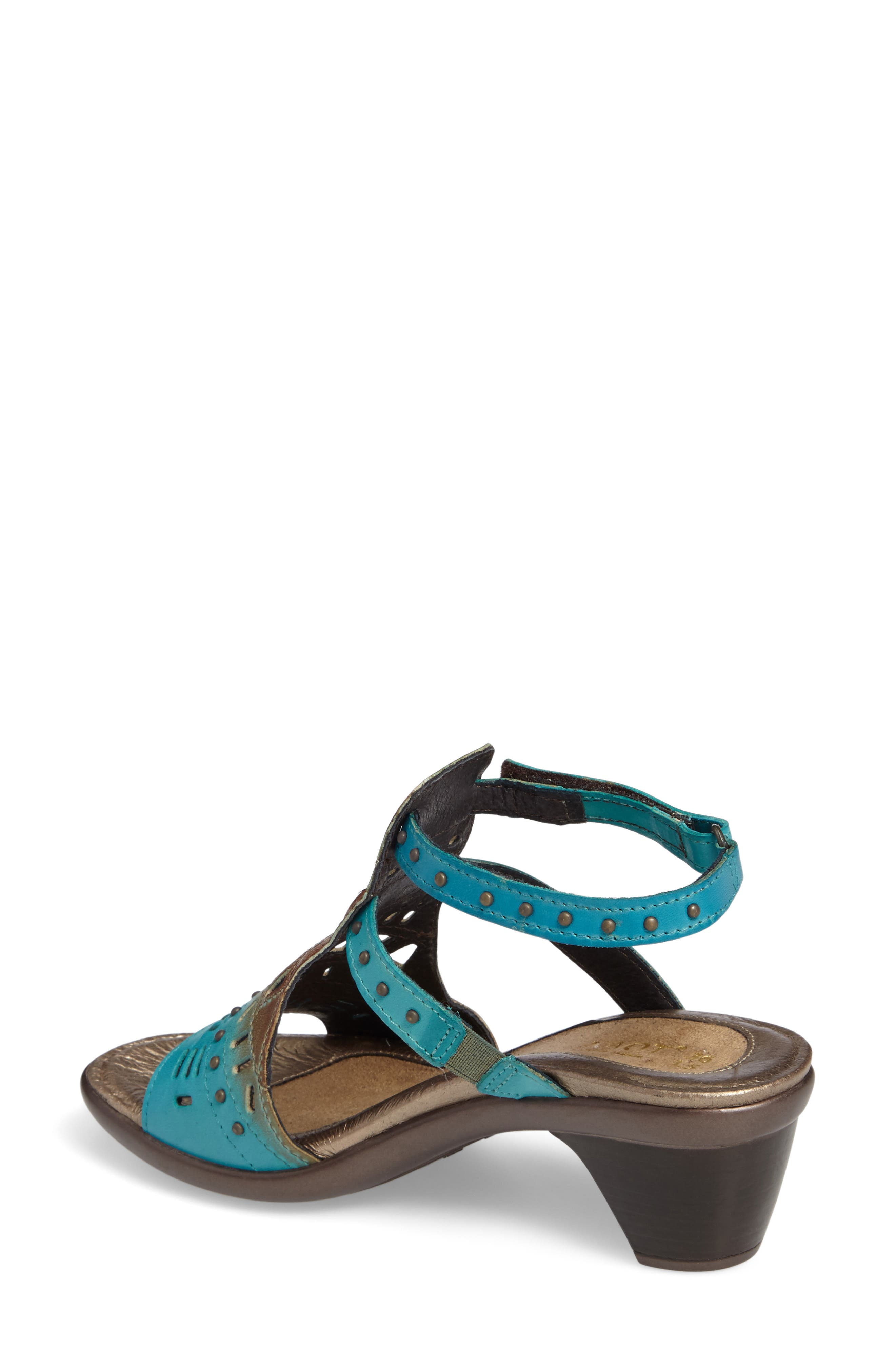 'Vogue' Sandal,                             Alternate thumbnail 2, color,                             TEAL BROWN LEATHER