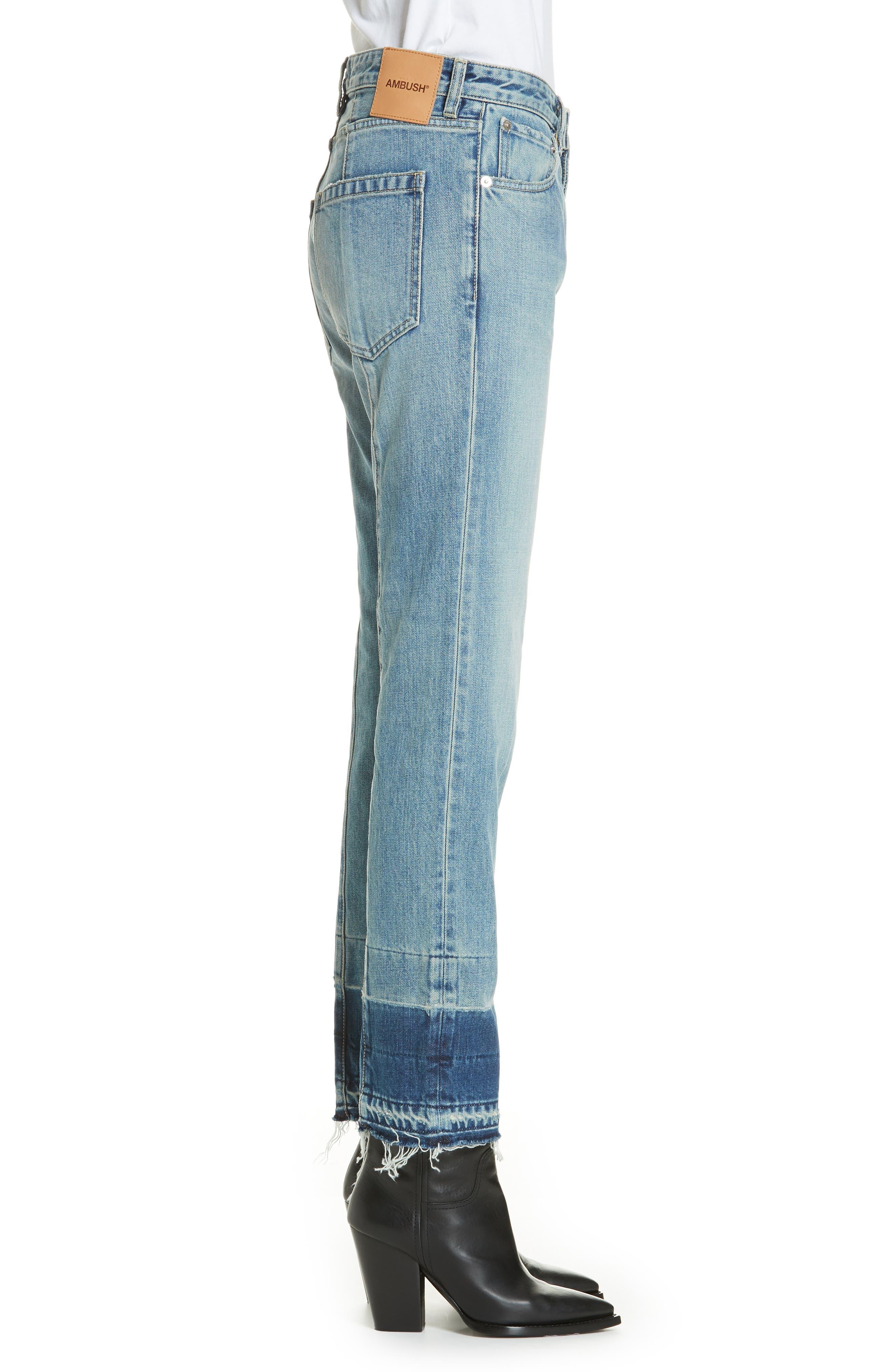 Patch Jeans,                             Alternate thumbnail 3, color,                             BLUE