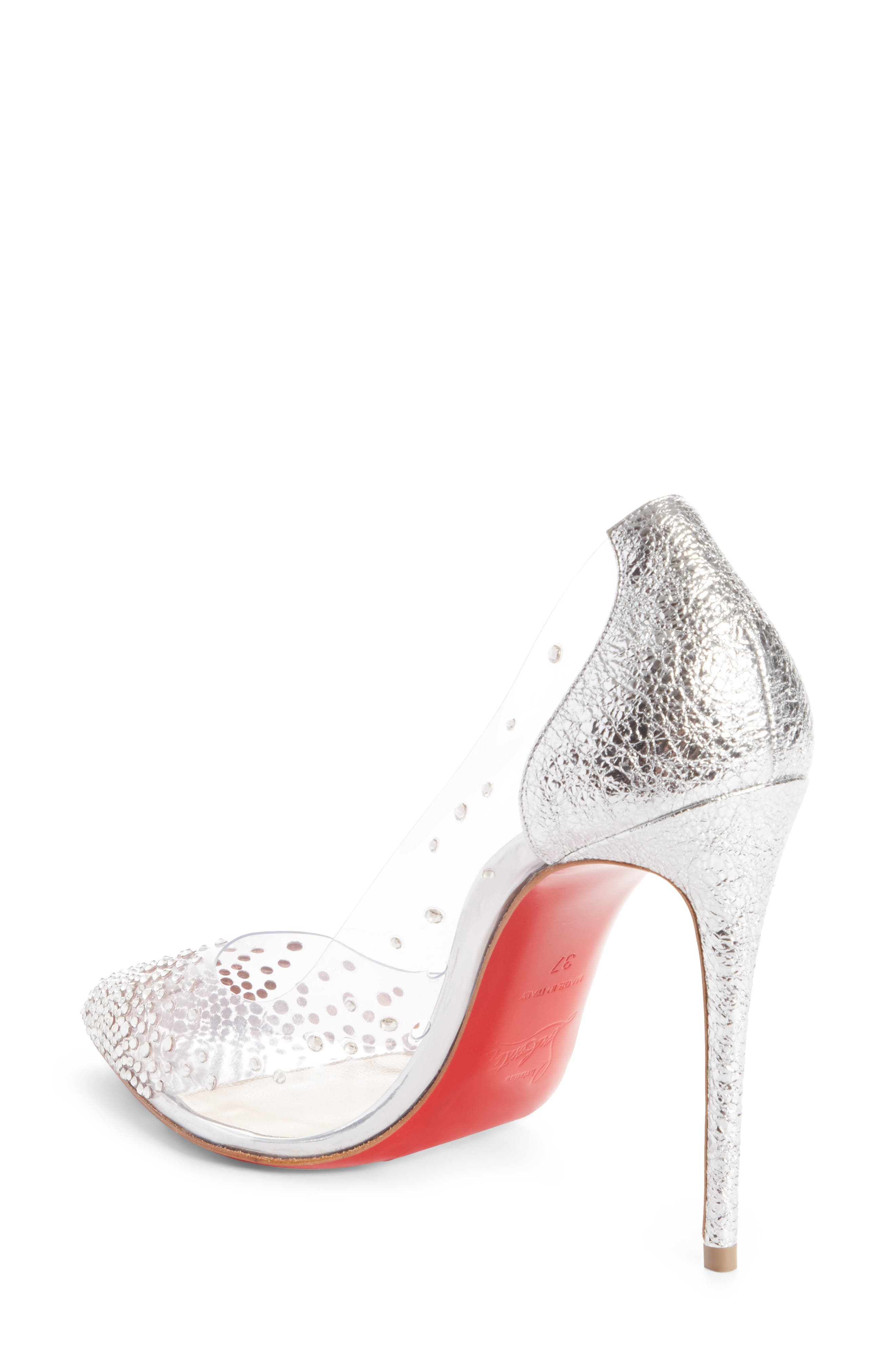 CHRISTIAN LOUBOUTIN,                             Degrastrass Clear Embellished Pump,                             Alternate thumbnail 2, color,                             042