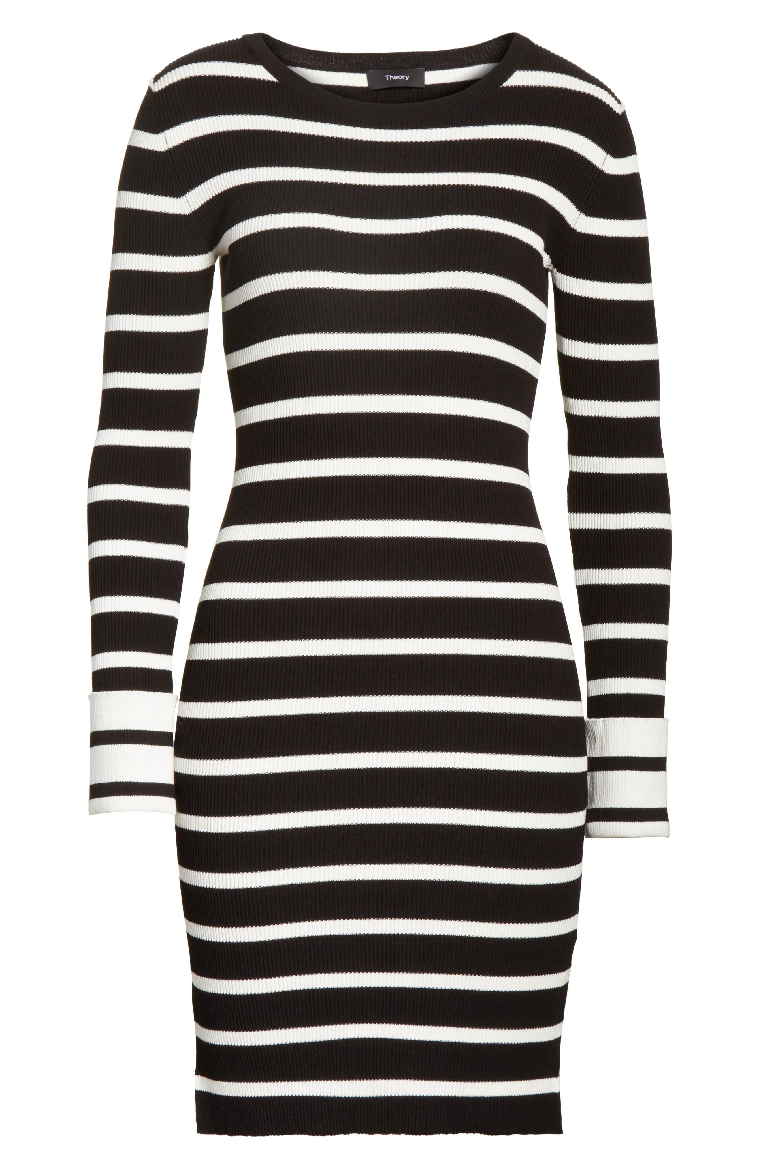 Prosecco Stripe Knit Dress,                             Alternate thumbnail 6, color,                             016