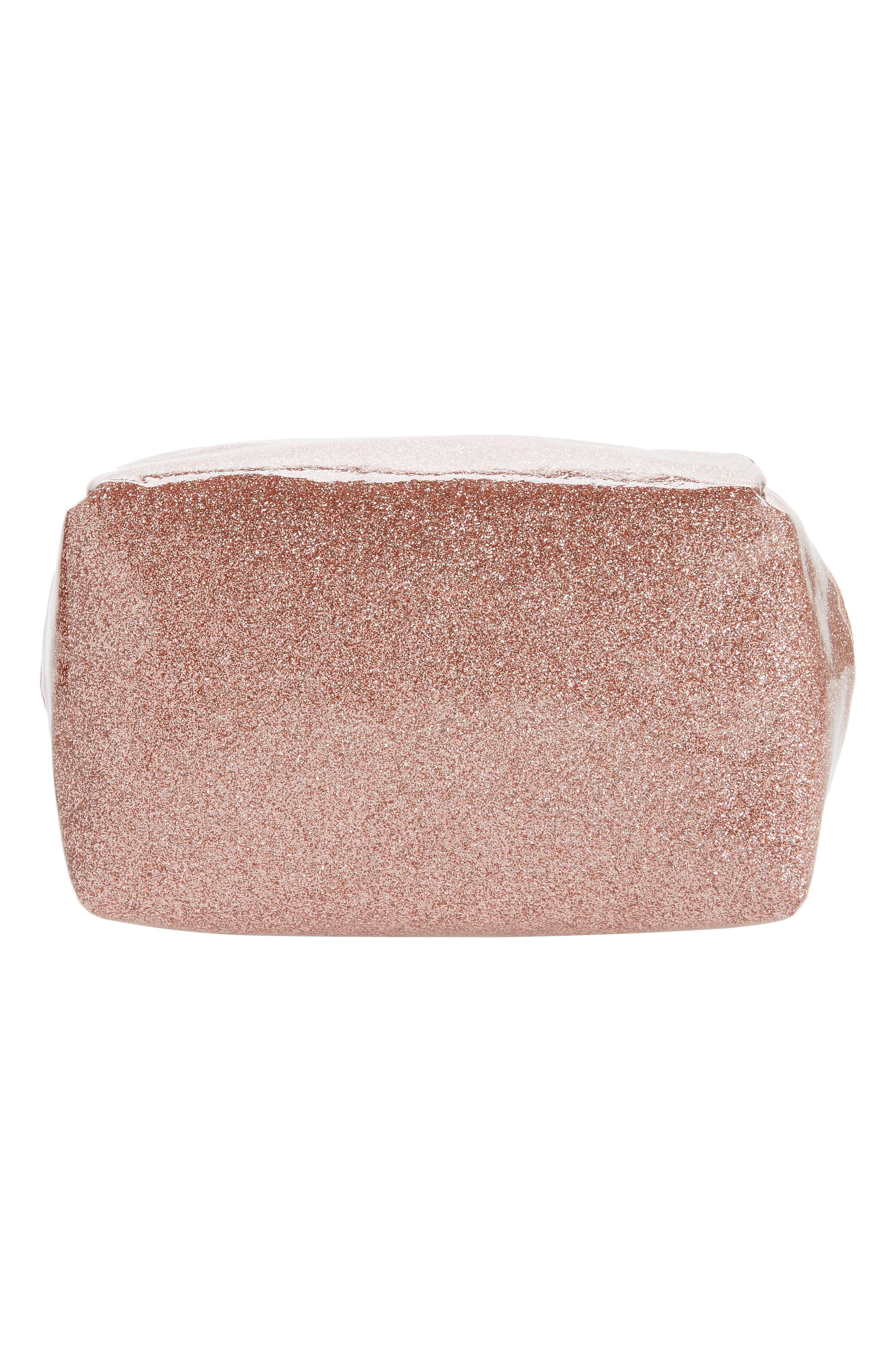 Cosmetics Case,                             Alternate thumbnail 5, color,                             ROSE GOLD