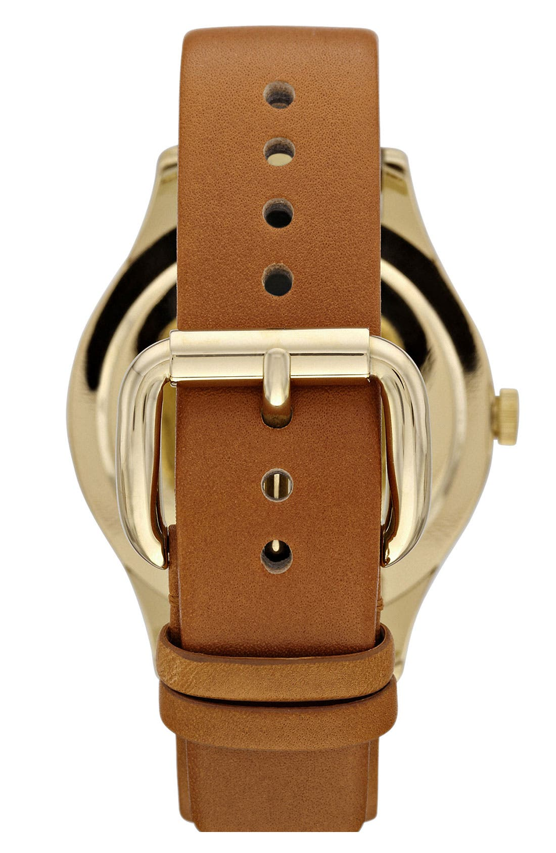 'Large Blade' Leather Strap Watch, 40mm,                             Alternate thumbnail 3, color,                             250