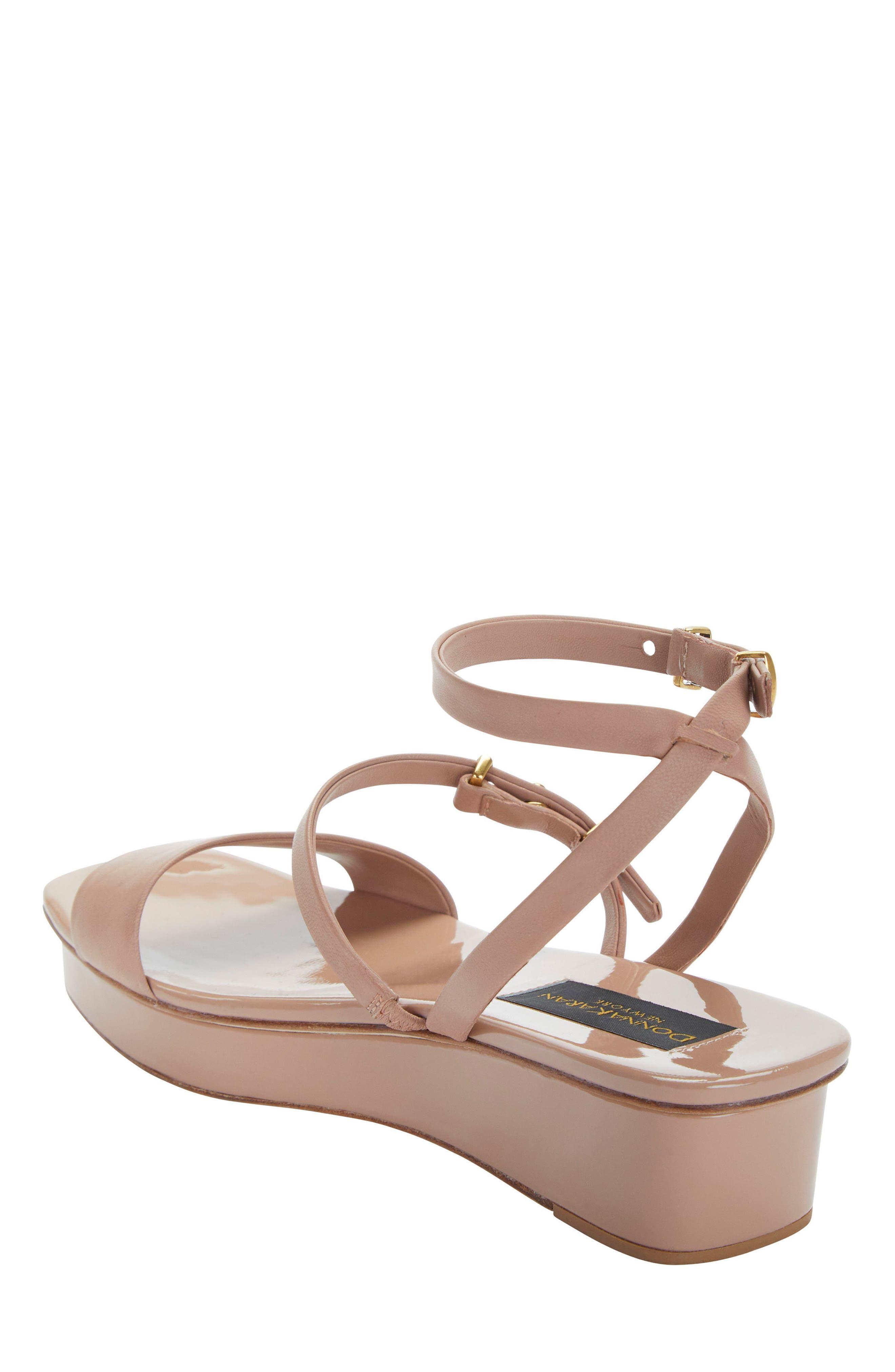 Ankle Strap Wedge Sandal,                             Alternate thumbnail 4, color,