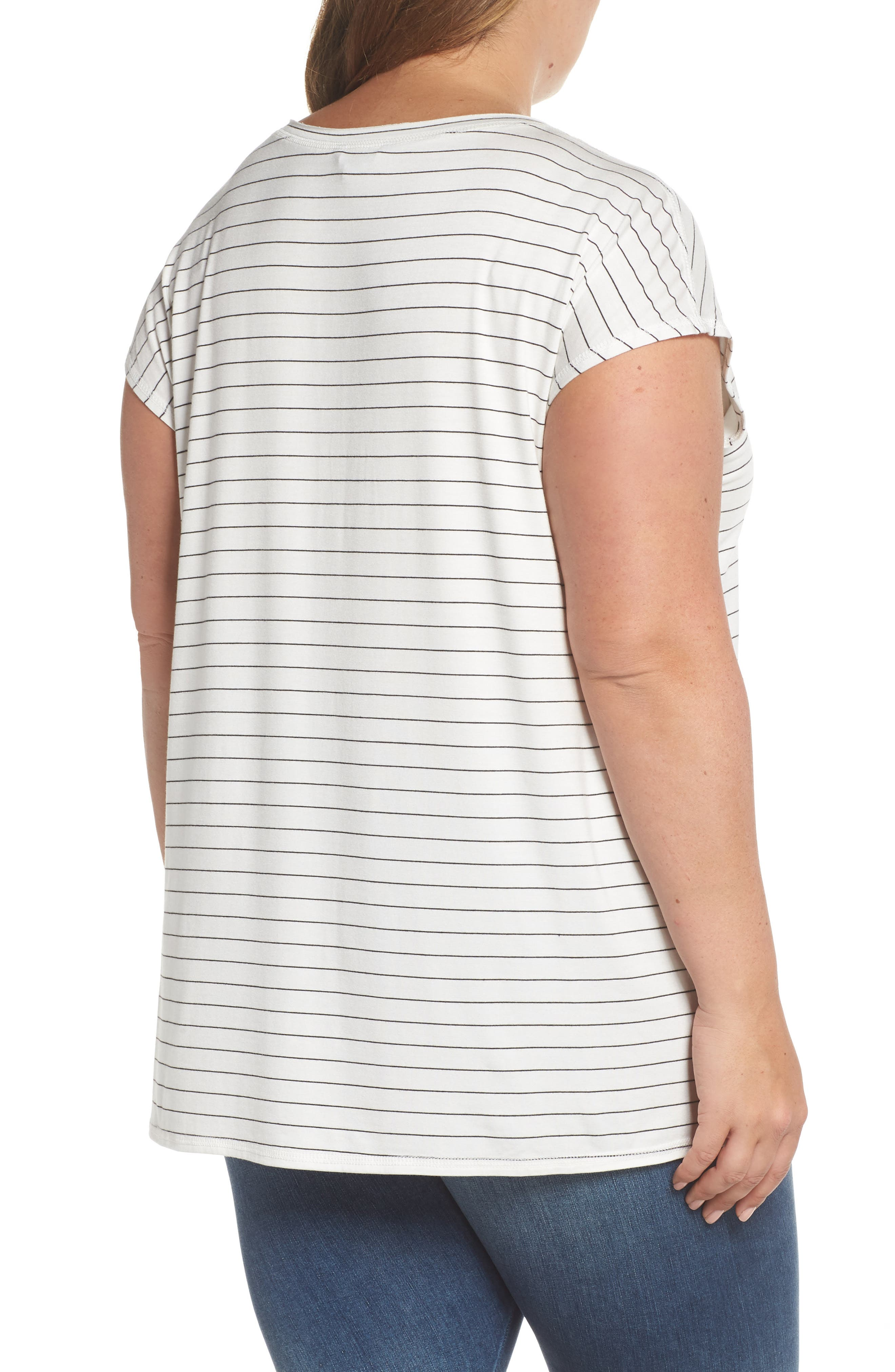 Off-Duty Stretch Knit Top,                             Alternate thumbnail 2, color,                             001