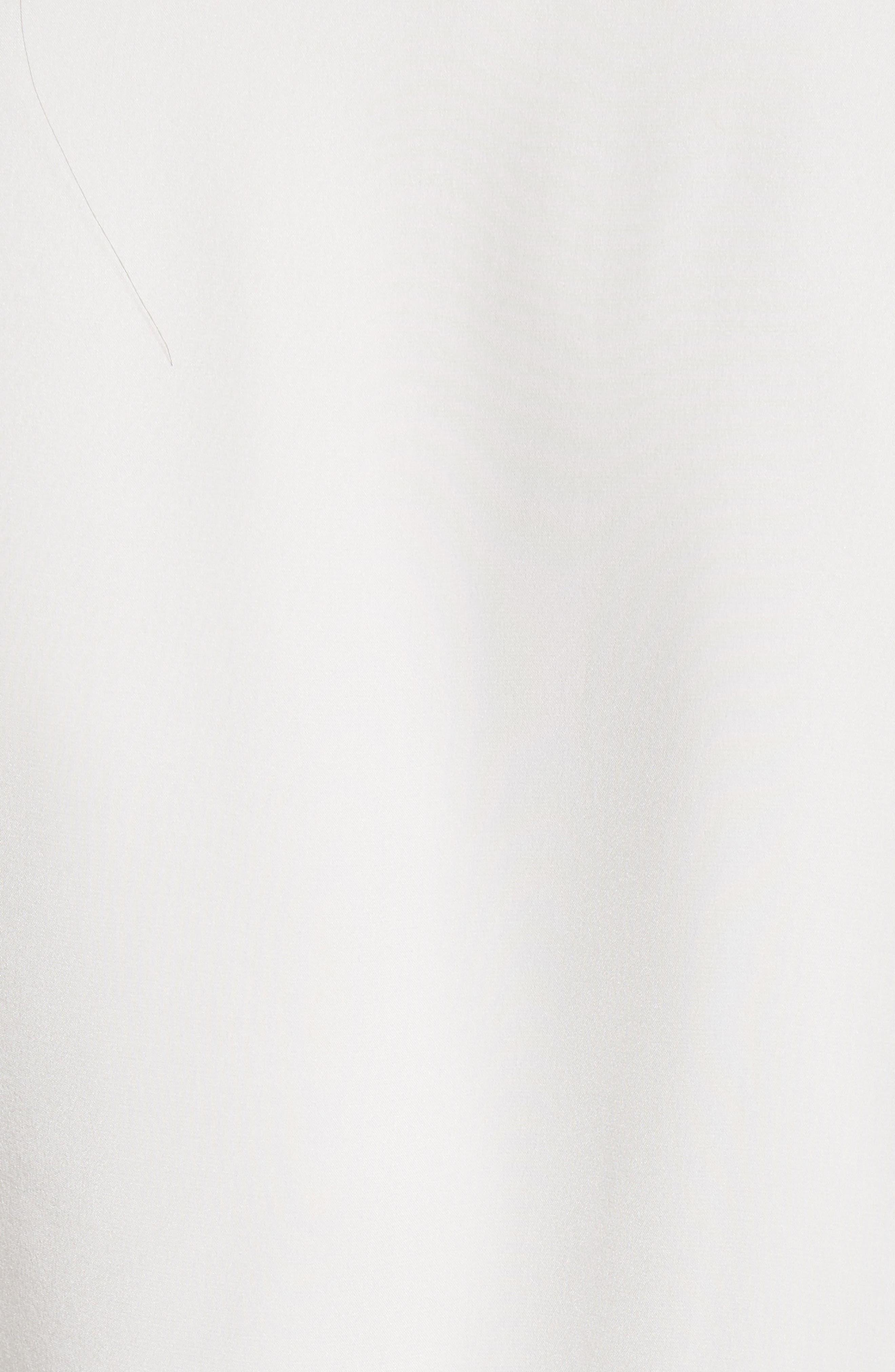 Silk Ruffle Sleeve Blouse,                             Alternate thumbnail 5, color,