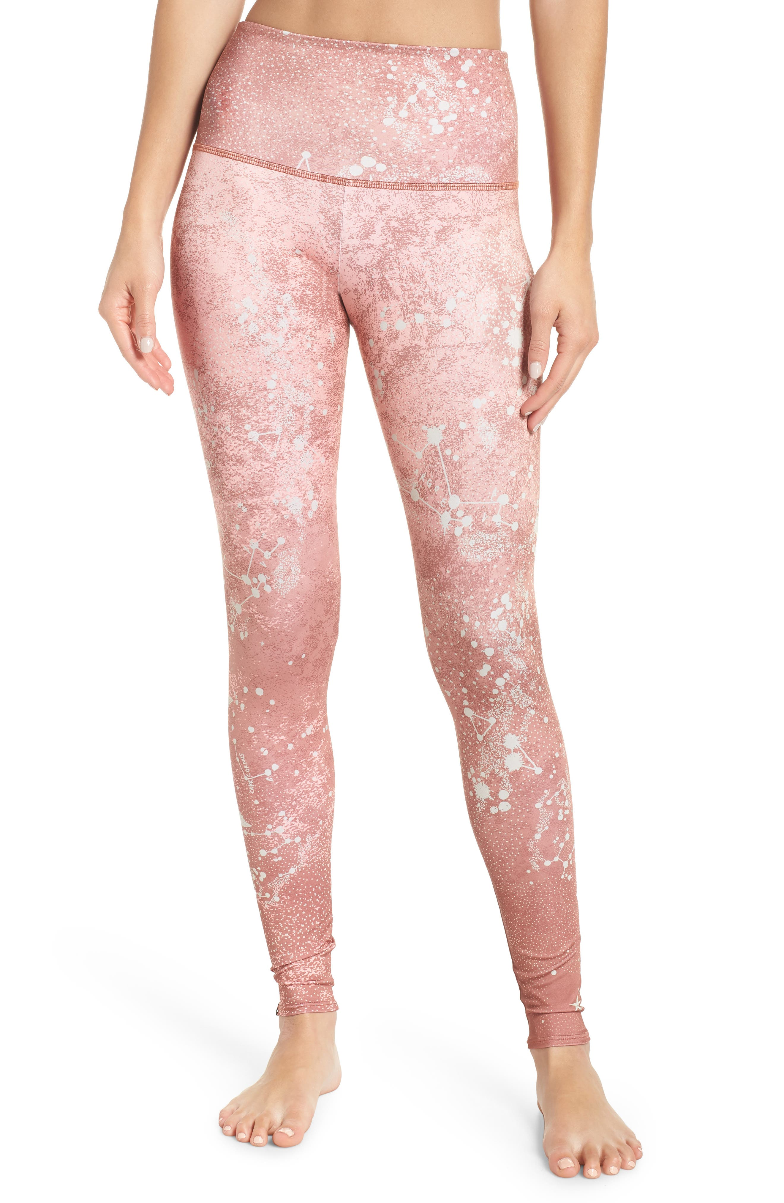 Graphic High Rise Leggings,                             Main thumbnail 1, color,                             COPPER CONSTELLATION