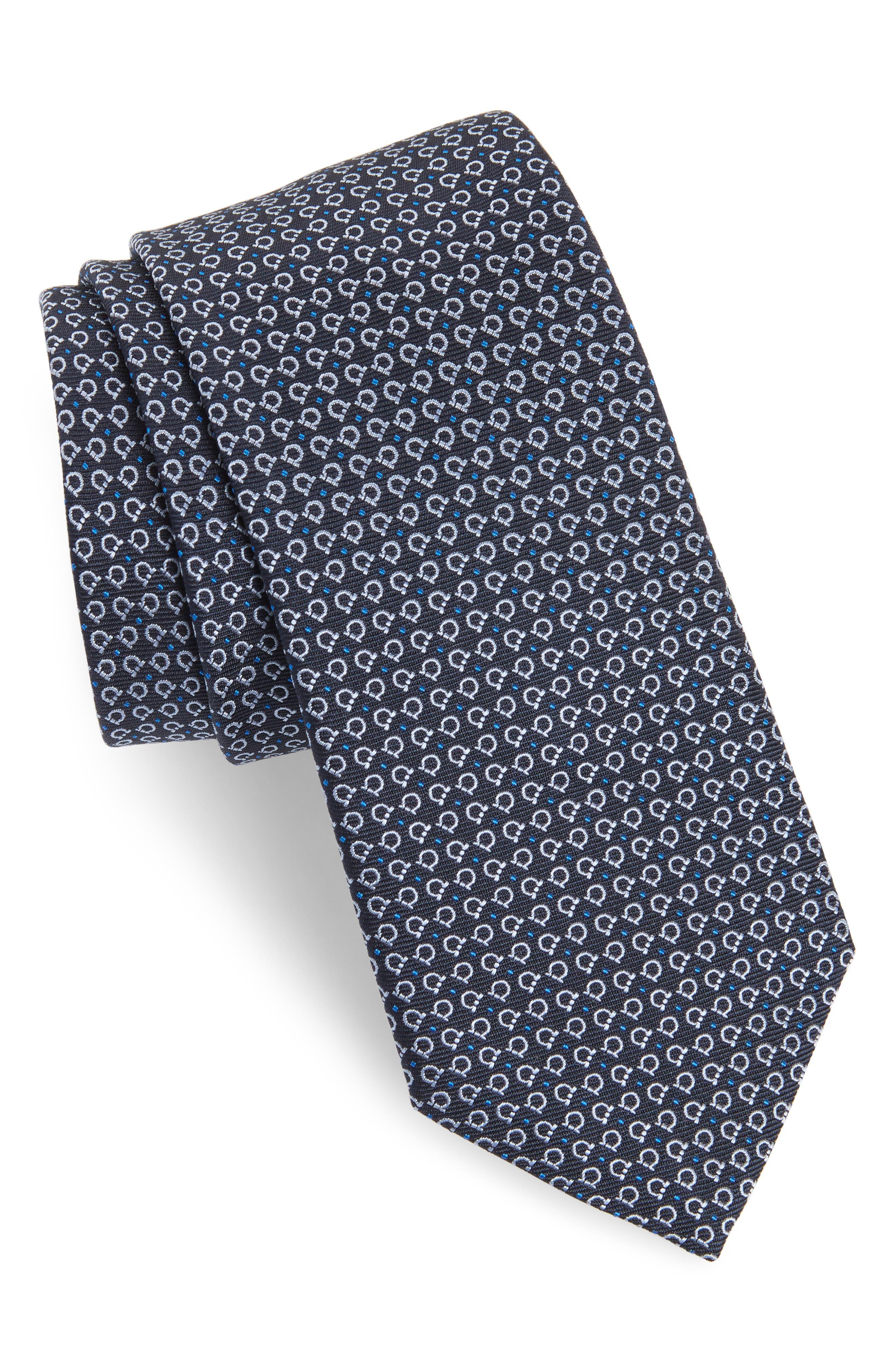 Elva Print Silk Tie,                         Main,                         color, 491